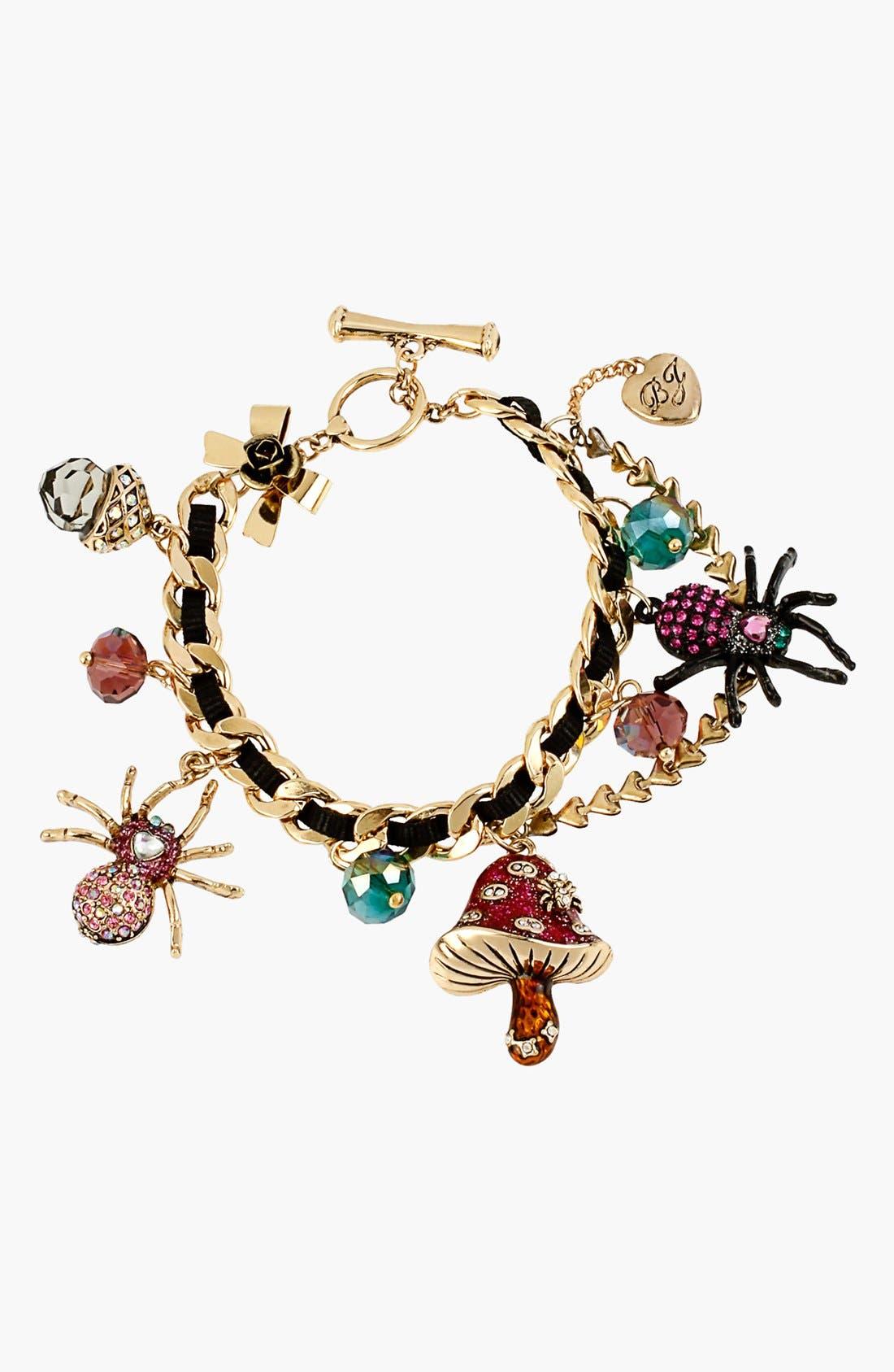 Alternate Image 1 Selected - Betsey Johnson 'Enchanted Forest' Charm Toggle Bracelet