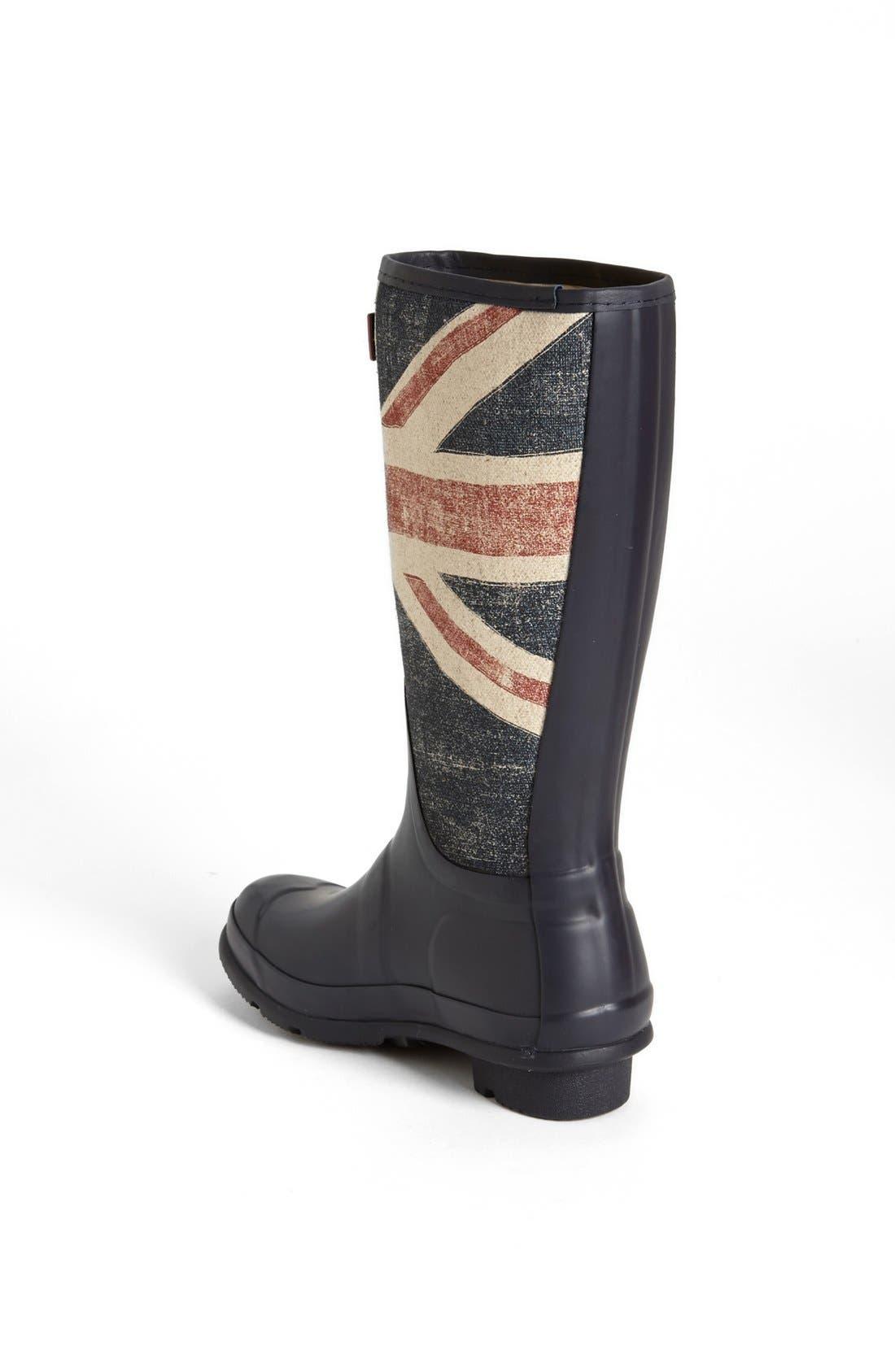 Alternate Image 2  - Hunter 'Brit' Waterproof Rain Boot (Little Kid & Big Kid)