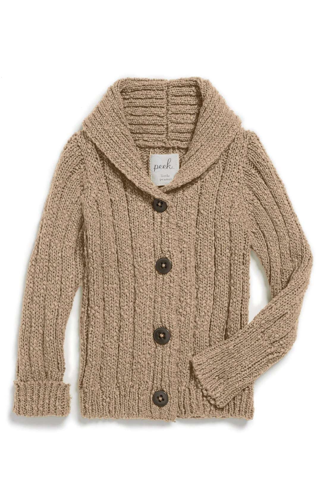 Alternate Image 1 Selected - Peek 'Dinah' Cable Knit Cardigan (Baby Girls)