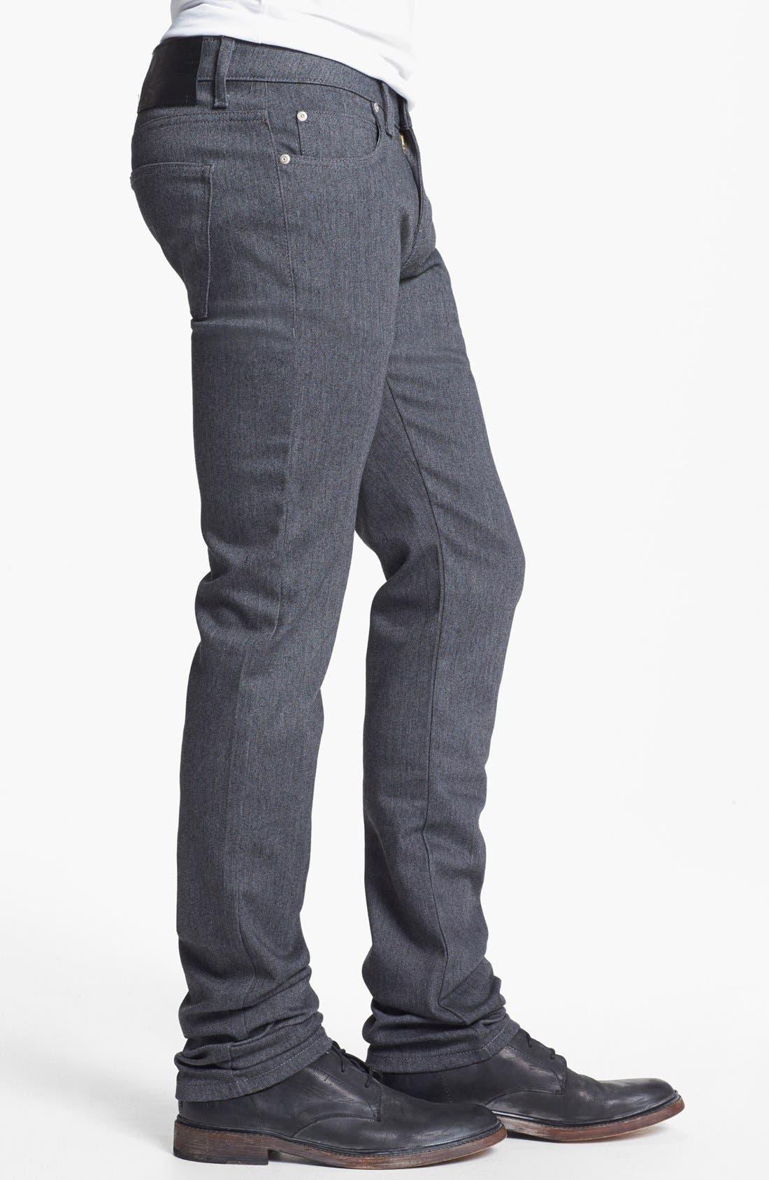 Alternate Image 3  - Naked & Famous Denim 'Skinny Guy' Skinny Fit Jeans (Heather Grey Stretch)