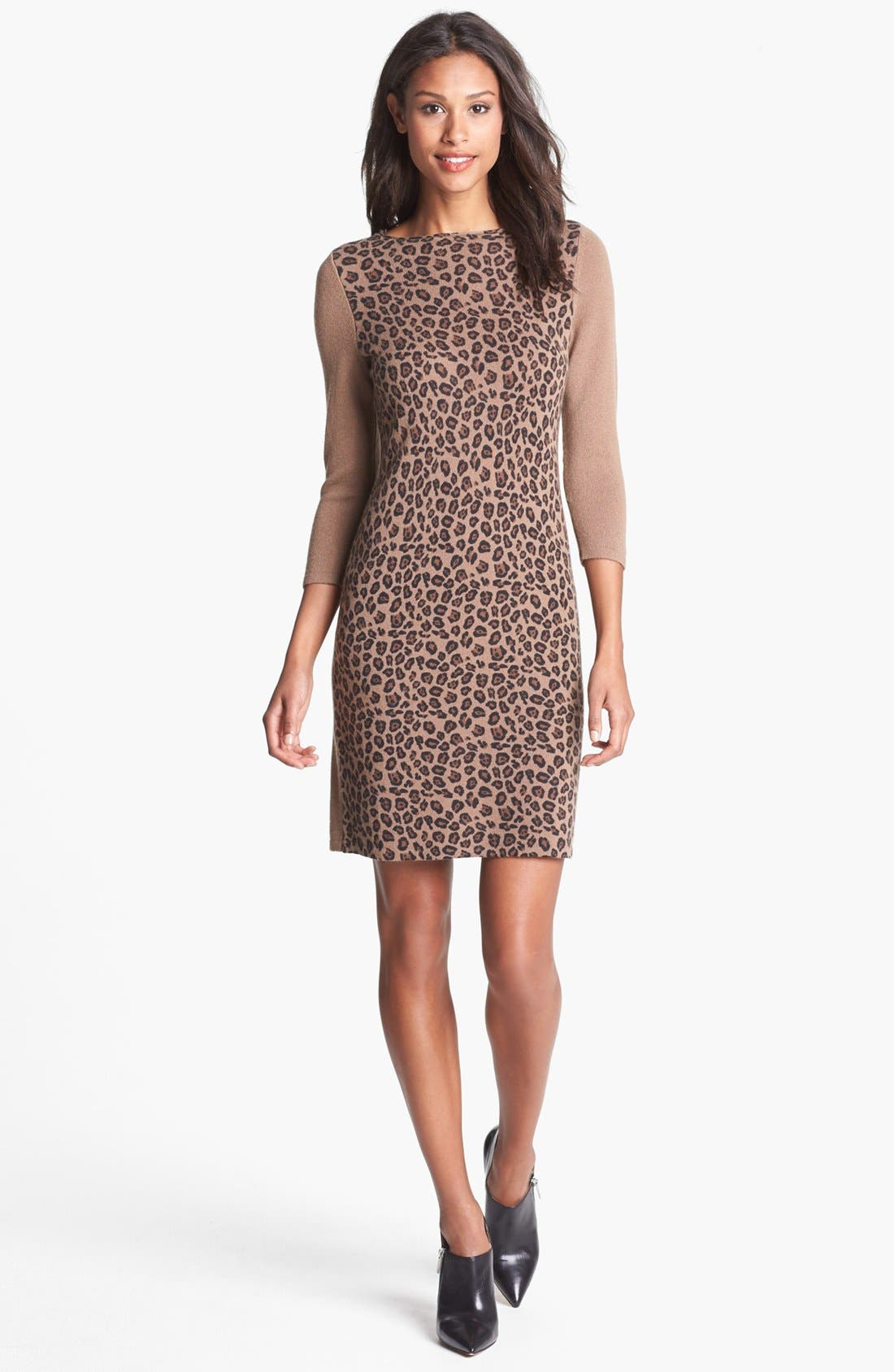 Alternate Image 1 Selected - Only Mine Leopard Print Sweater Dress