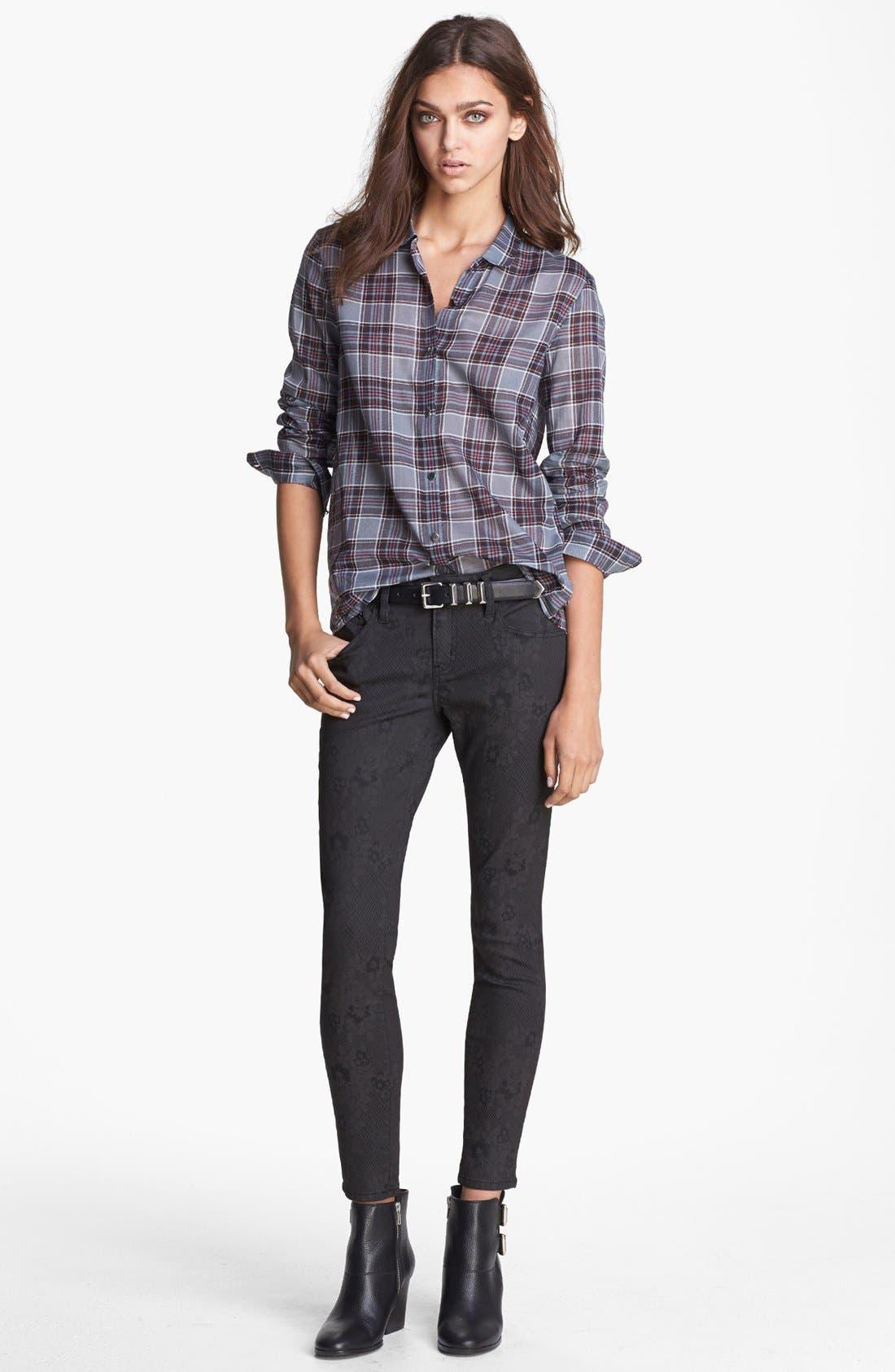 Alternate Image 5  - The Kooples Skinny Print Stretch Jeans