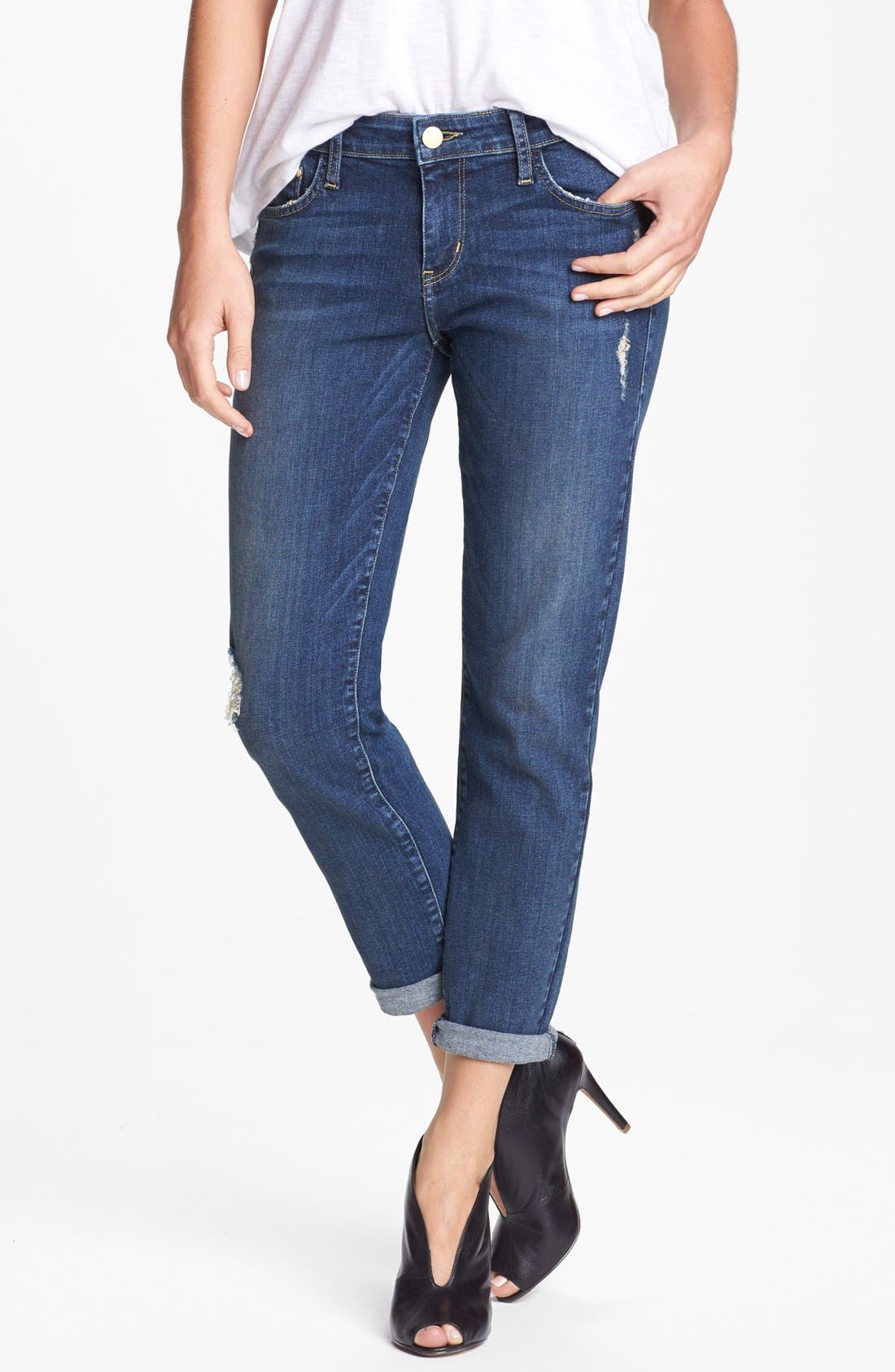 Main Image - !iT Collective 'Hepburn' Stretch Boyfriend Jeans (Mac Coy)
