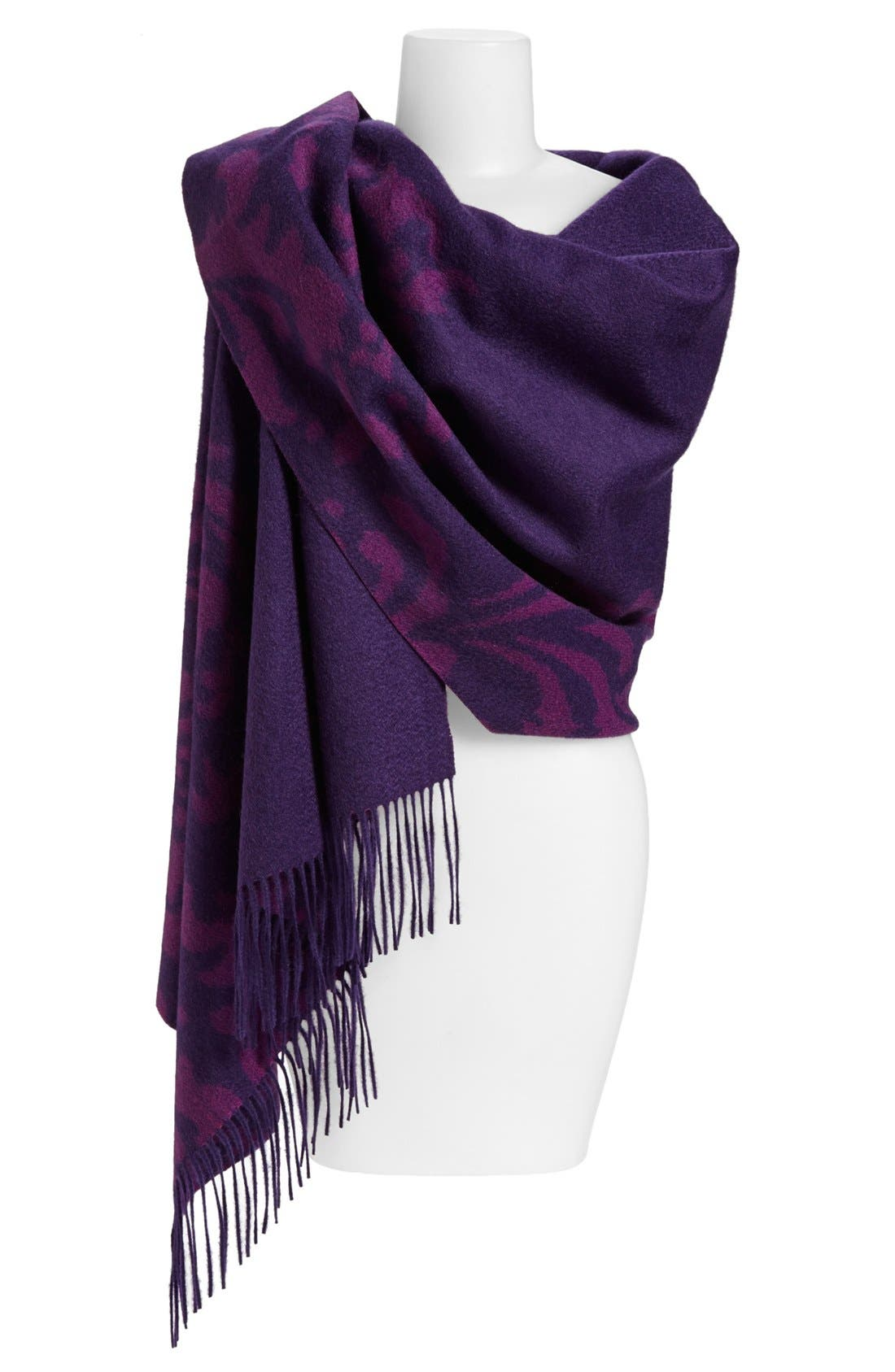 Alternate Image 1 Selected - Nordstrom 'Scroll' Woven Cashmere Wrap