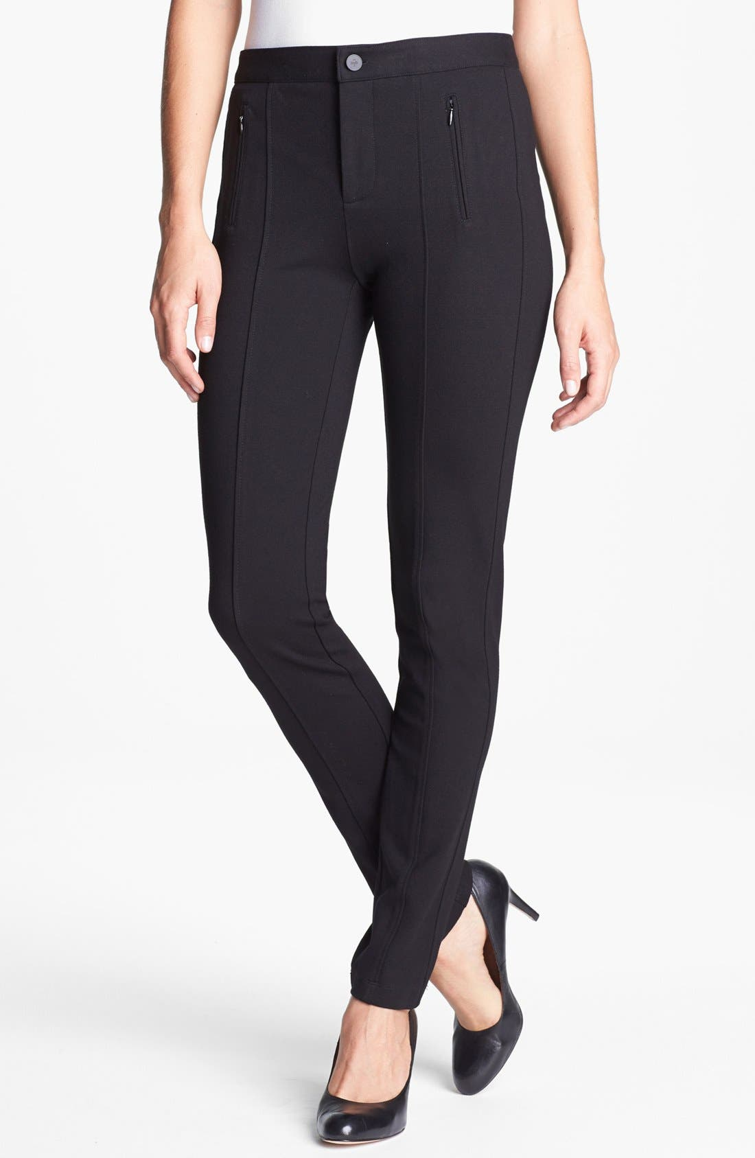 Alternate Image 1 Selected - NYDJ 'Ski' Zip Pocket Ponte Knit Pants (Petite)