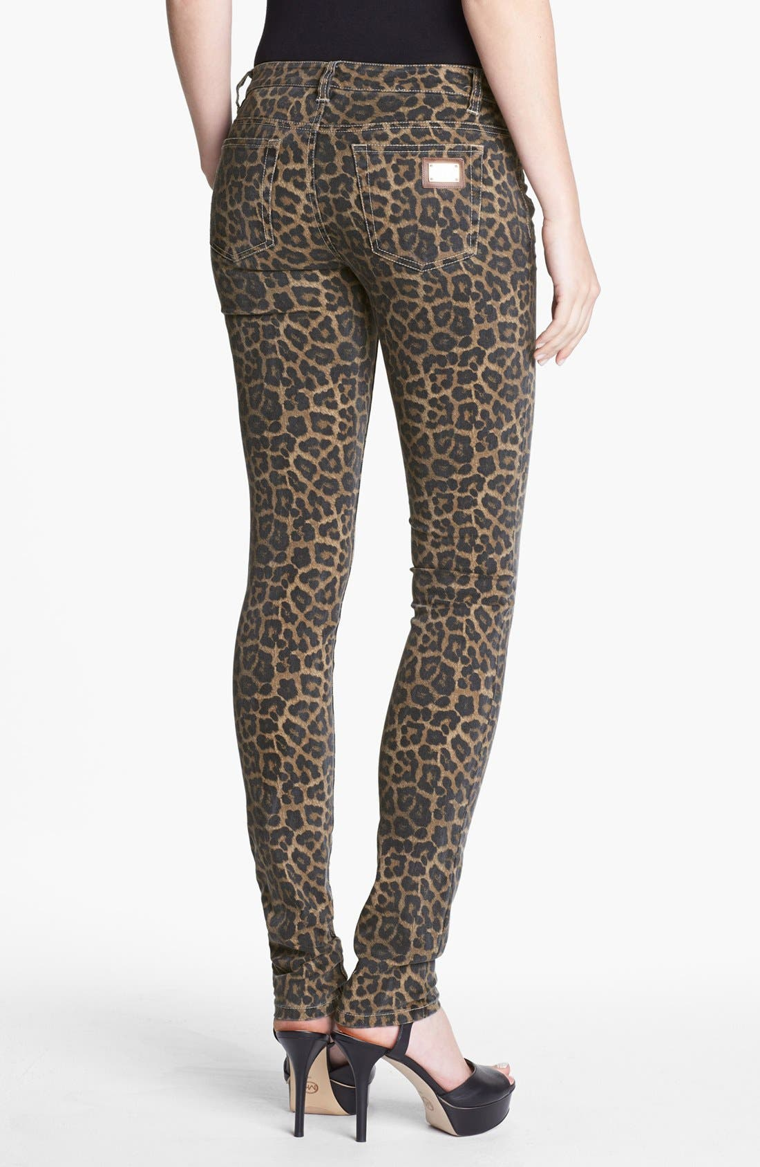 Alternate Image 3  - MICHAEL Michael Kors Jaguar Spot Skinny Jeans