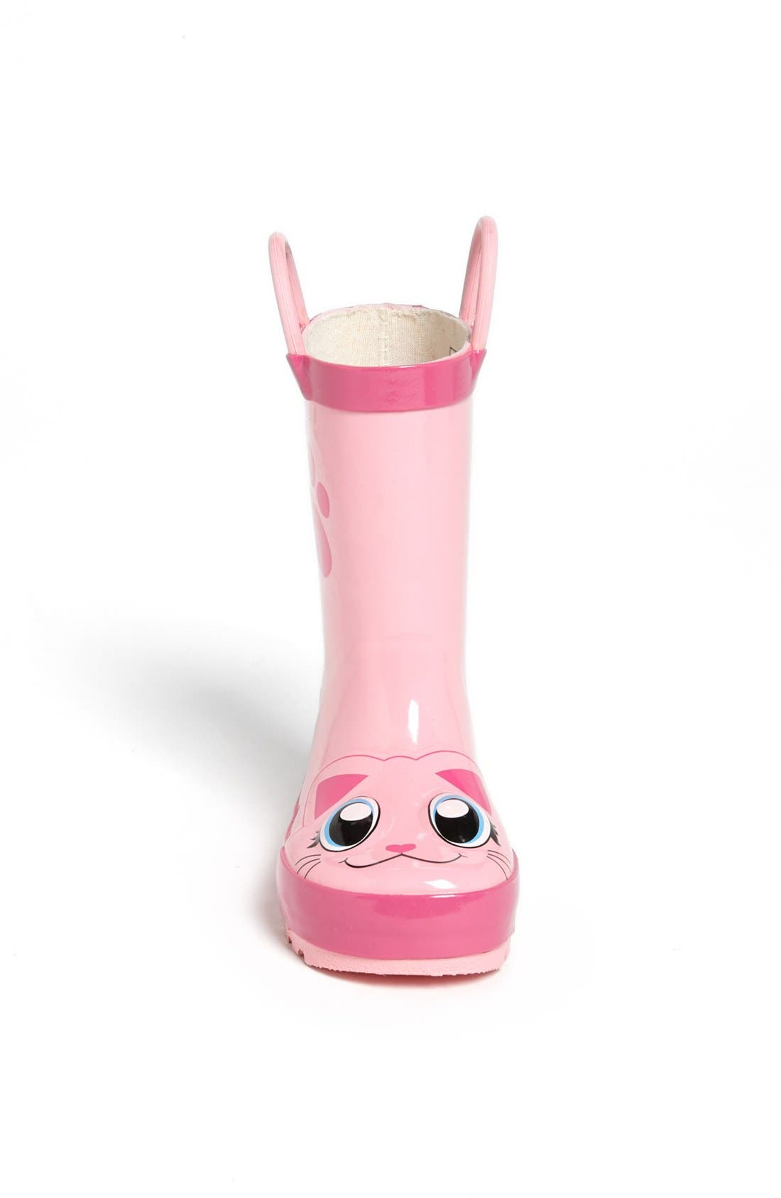 'Kitty' Rain Boot,                             Alternate thumbnail 2, color,                             Pink