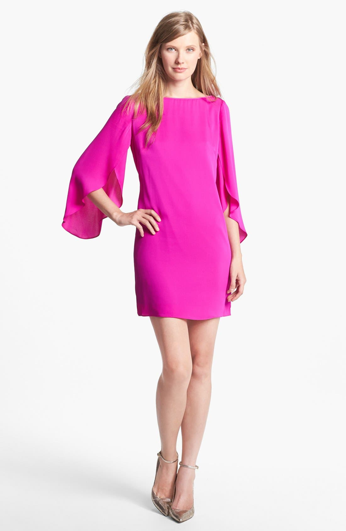 Alternate Image 1 Selected - Milly Stretch Silk Shift Dress