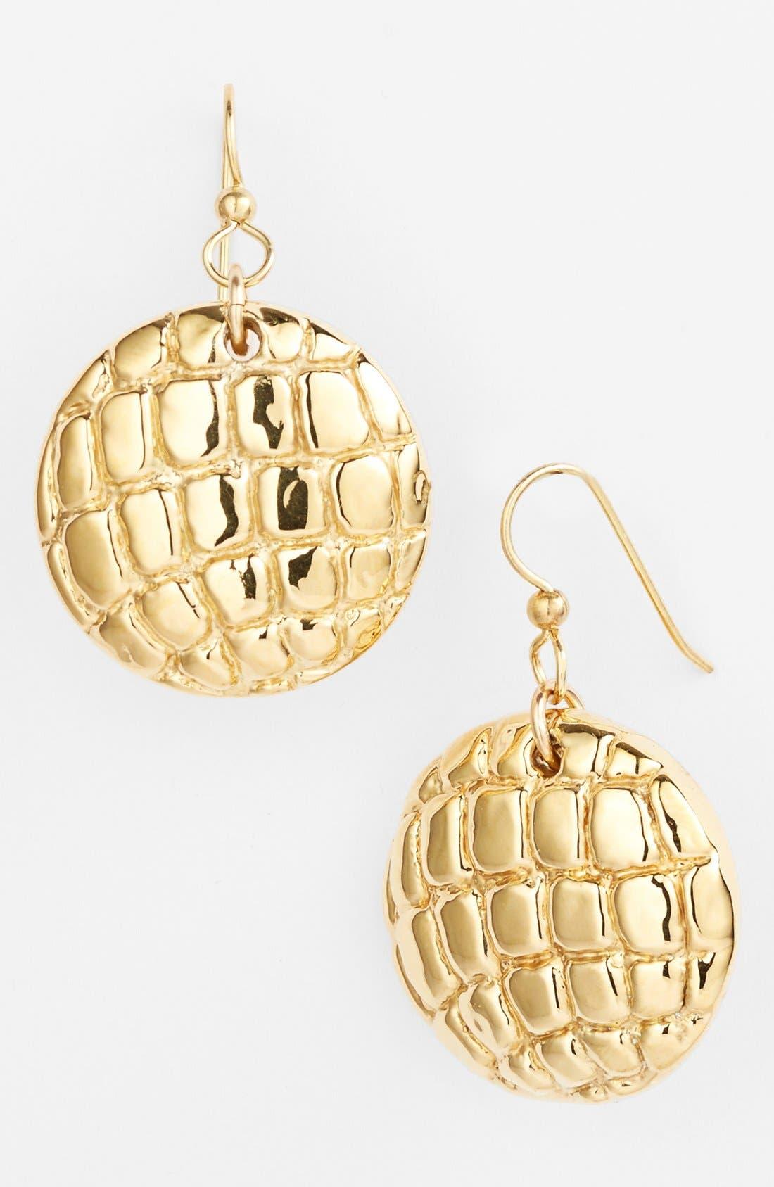 Alternate Image 1 Selected - Simon Sebbag 'Gold Crocodile' Drop Earrings