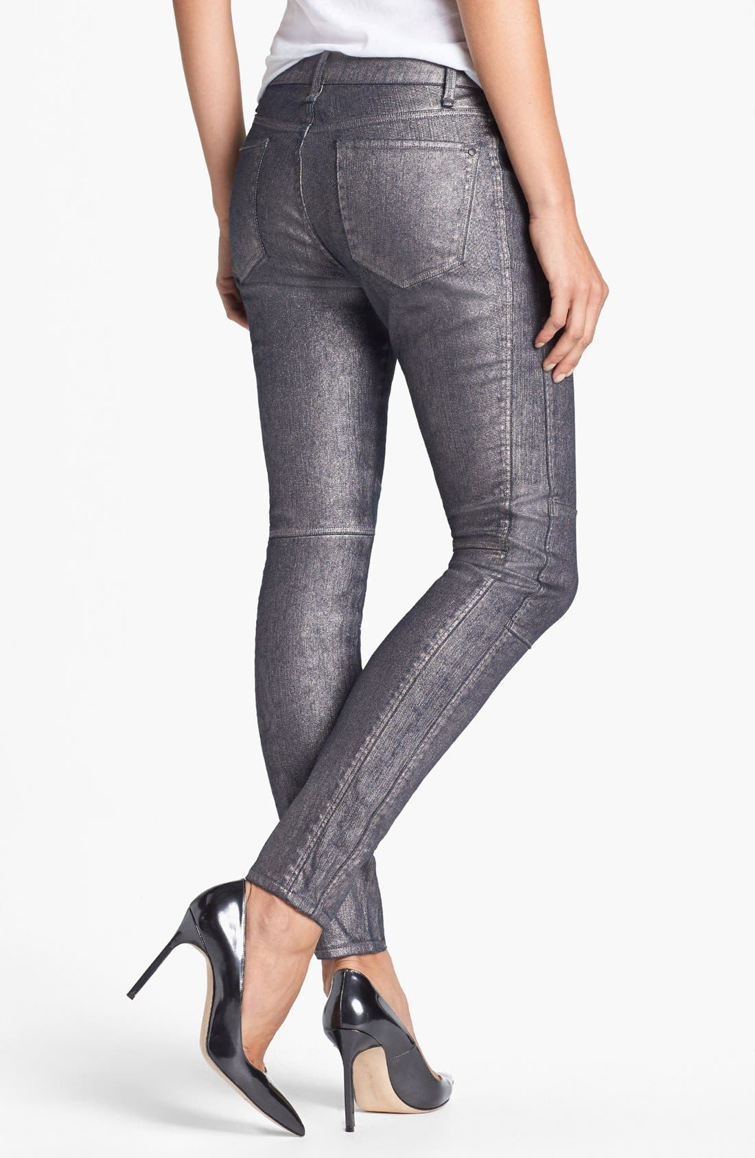 Alternate Image 2  - MARC BY MARC JACOBS Seamed Cigarette Leg Jeans (Gunmetal)