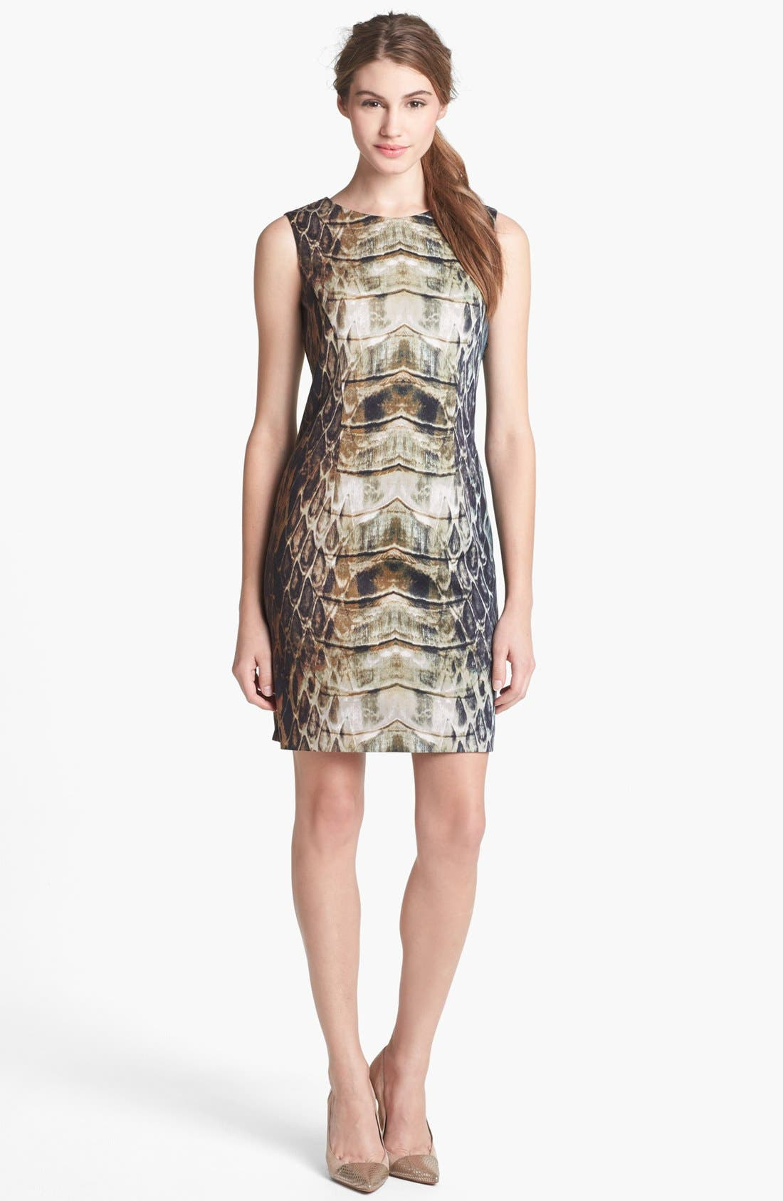 Alternate Image 1 Selected - Vince Camuto Snake Print Sheath Dress