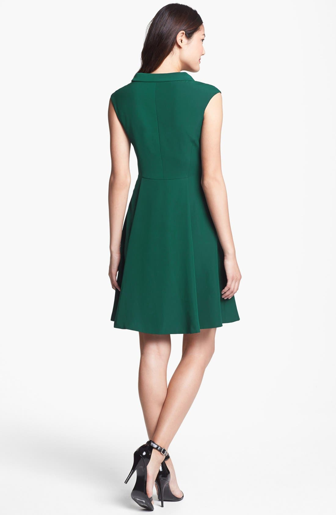 Alternate Image 2  - Vince Camuto Fit & Flare Dress (Regular & Petite)