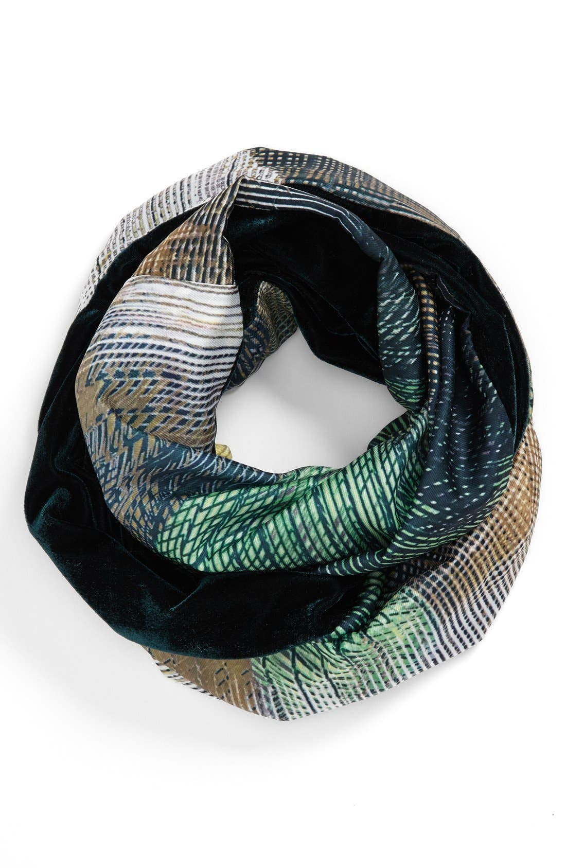 Alternate Image 1 Selected - Nordstrom 'Abstract' Velvet Infinity Scarf