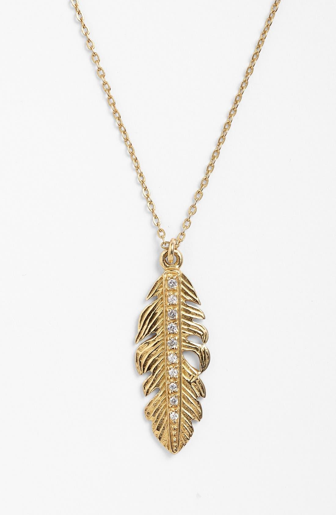 Main Image - Melinda Maria Small Feather Pendant Necklace