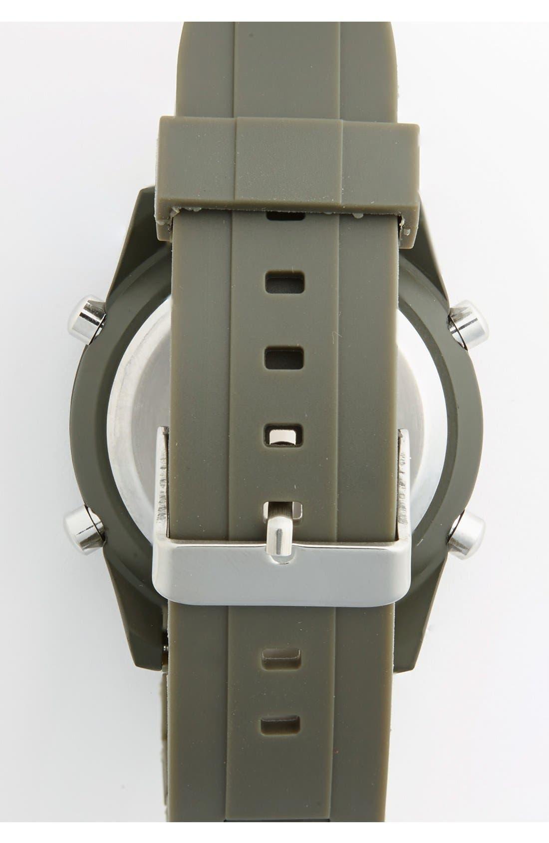 Alternate Image 2  - ACCUTIME Round Dial Digital Plastic Strap Watch, 45mm