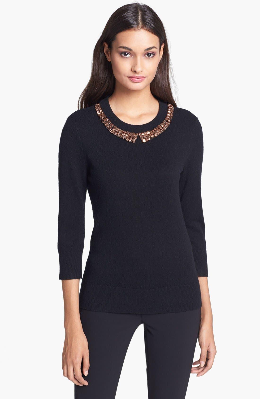 Alternate Image 1 Selected - kate spade new york 'avaline' embellished sweater