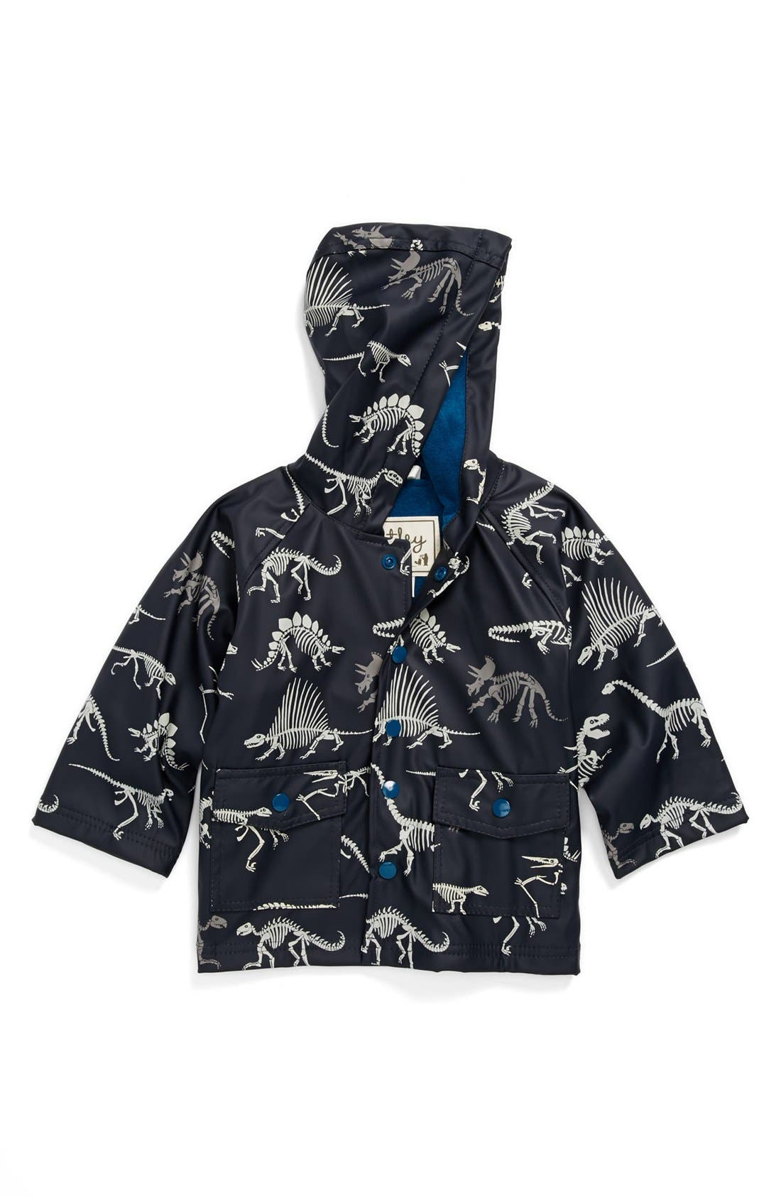 Main Image - Hatley 'Dino Bones' Rain Jacket (Baby Boys, Toddler Boys, Little Boys & Big Boys)