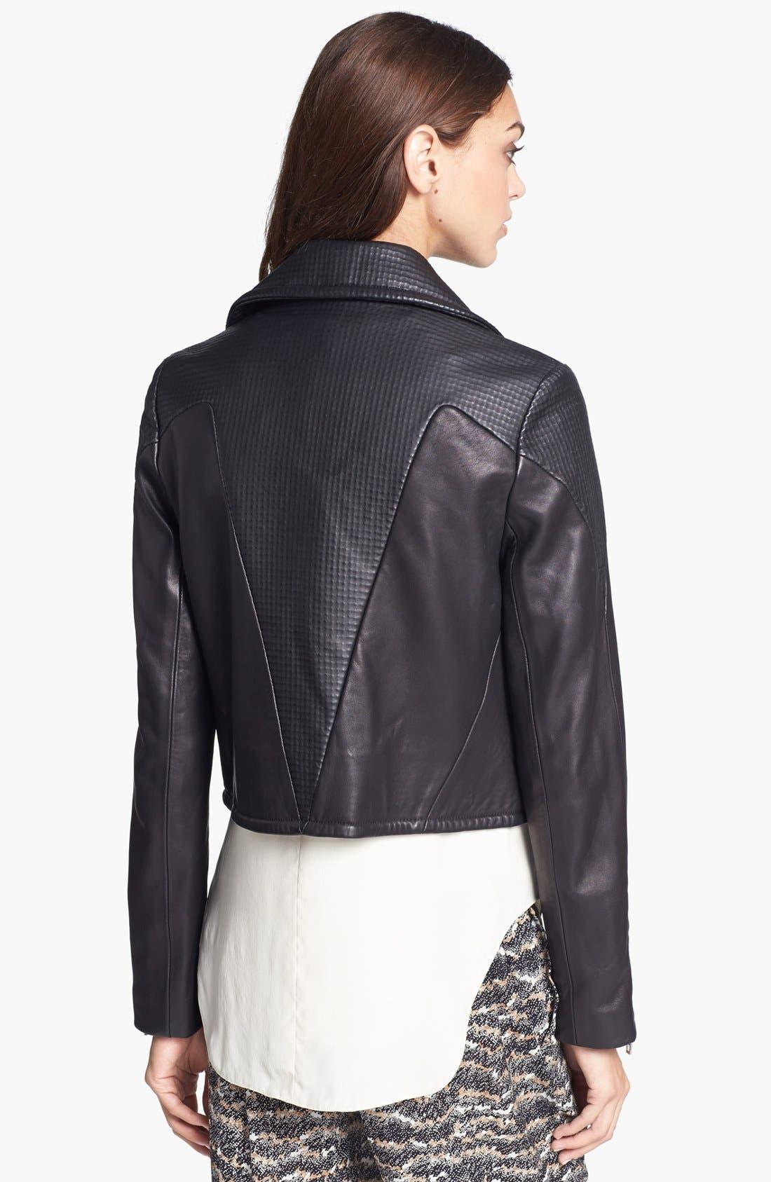 Alternate Image 2  - rag & bone 'Hudson' Deerskin & Lambskin Leather Moto Jacket