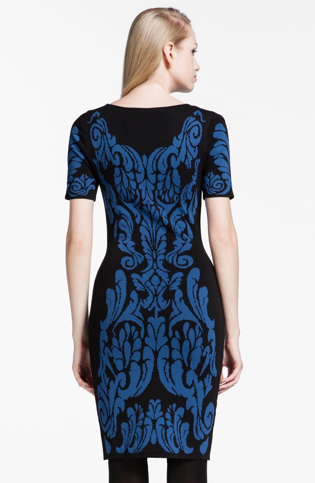 Alternate Image 2  - Cynthia Steffe 'Briella' Patterned Sweater Dress