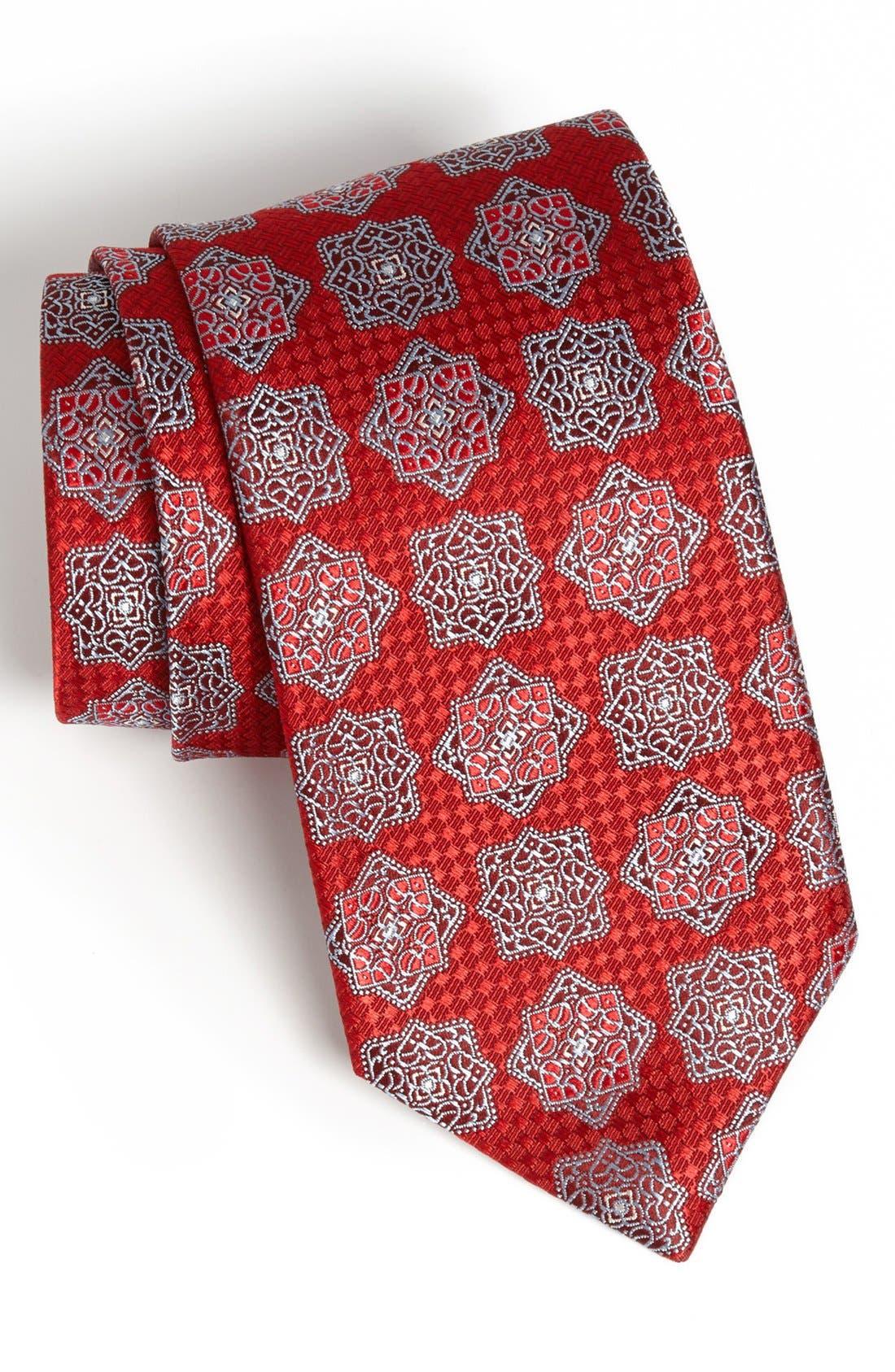 Alternate Image 1 Selected - David Donahue Woven Silk Tie