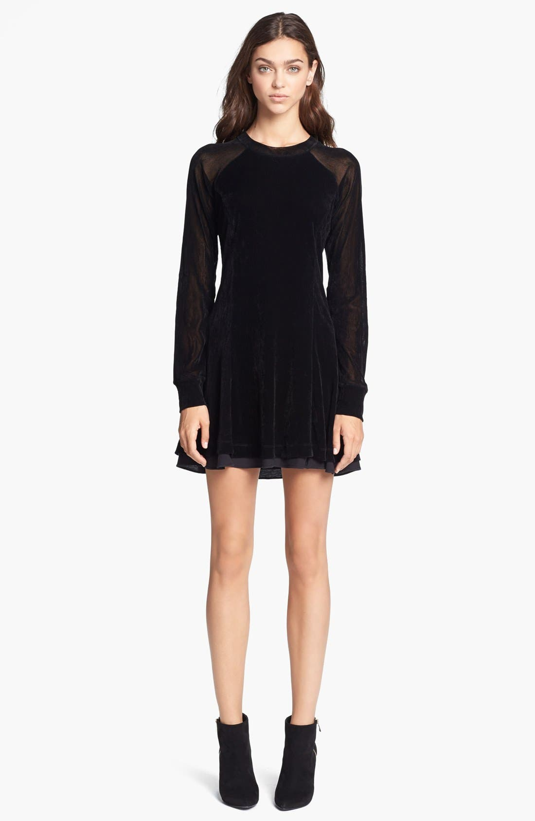Main Image - Theyskens' Theory 'Chupi Forea' Velvet Dress
