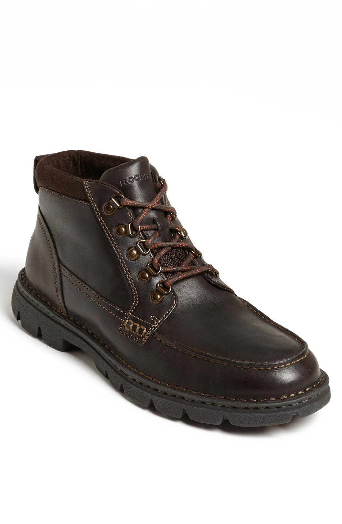 'RocSports Rugged' Moc Toe Boot,                             Main thumbnail 1, color,                             Brown