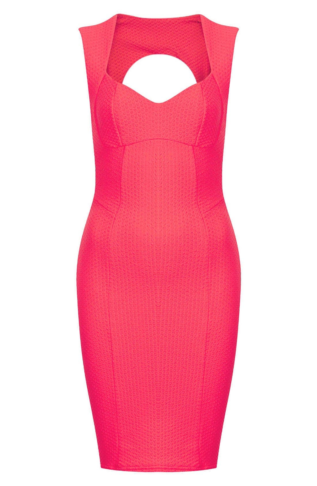Alternate Image 3  - Topshop Sweetheart Neckline Body-Con Dress (Petite)
