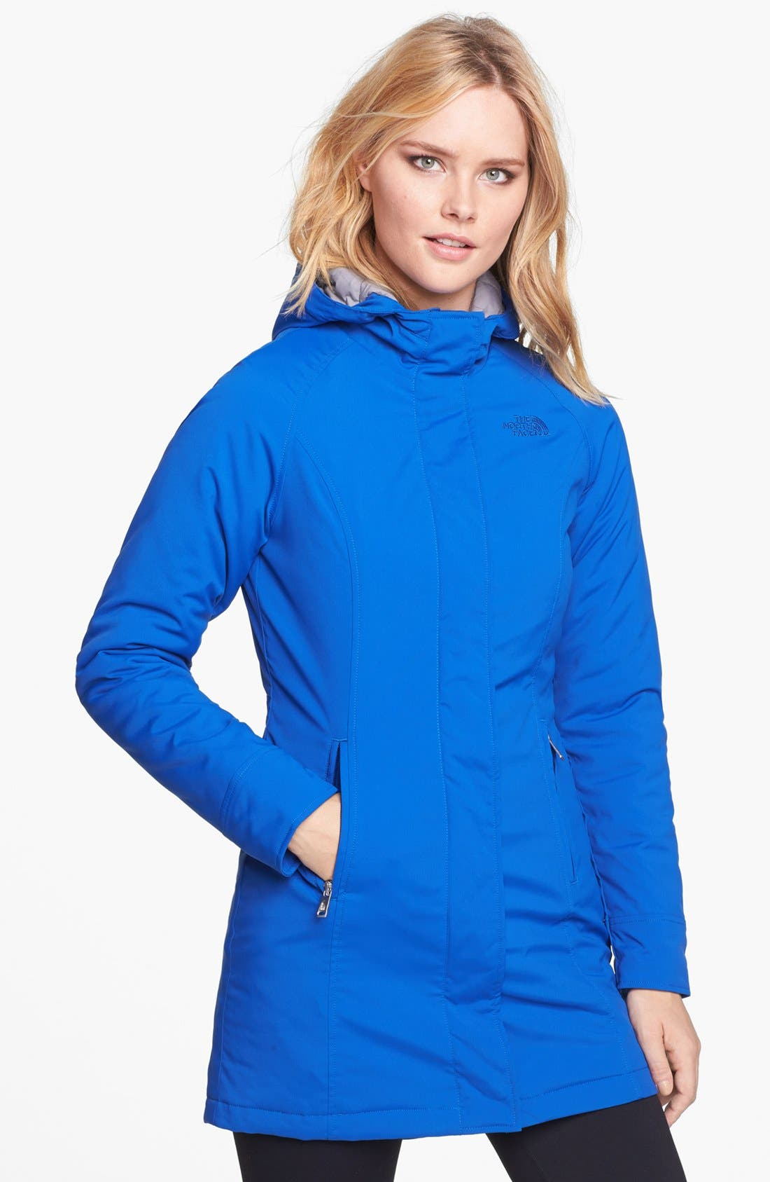 Alternate Image 1 Selected - The North Face 'Lola' Soft Shell Trench Coat