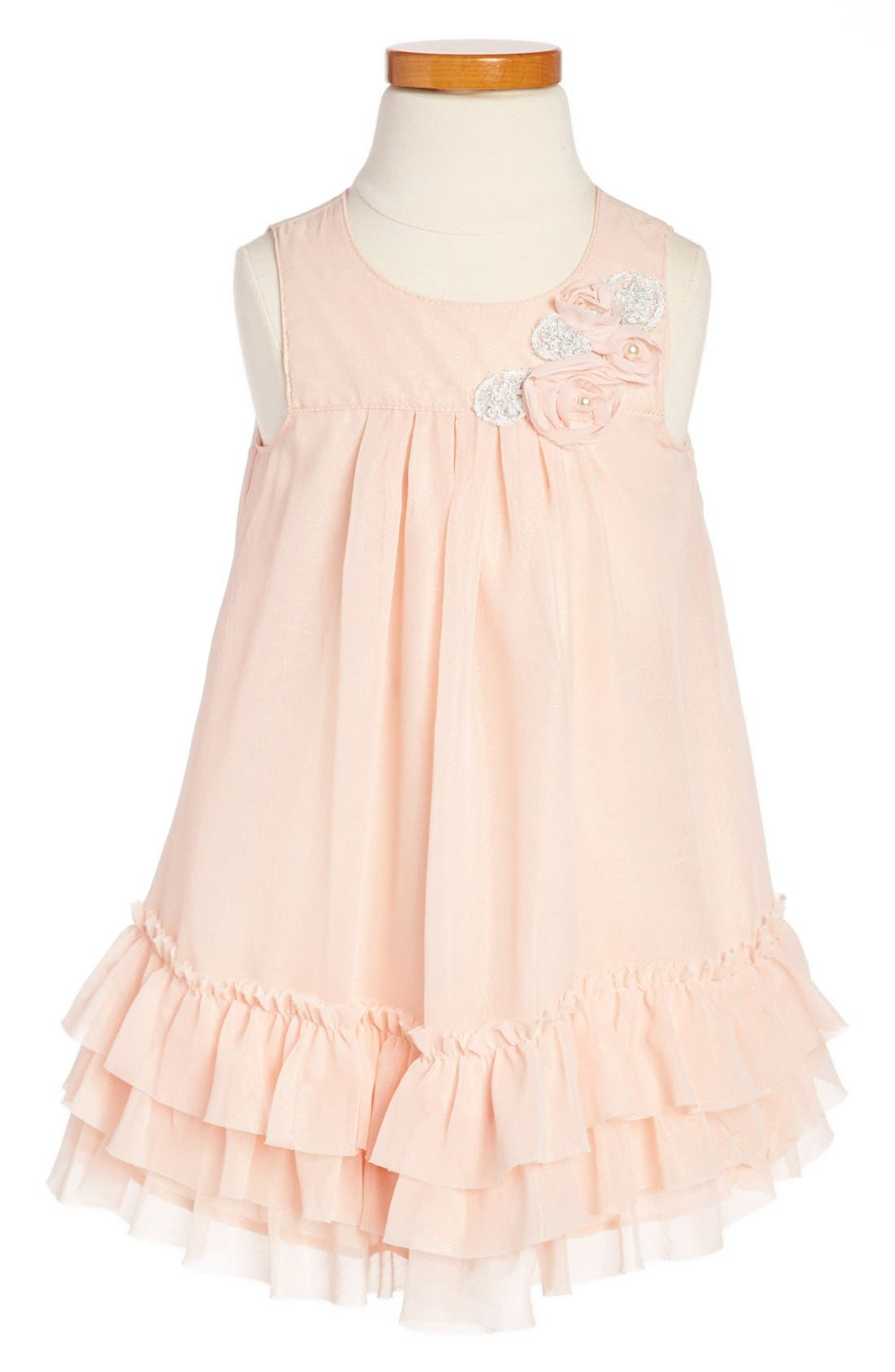 Alternate Image 1 Selected - Pippa & Julie Ruffle Dress (Toddler Girls)