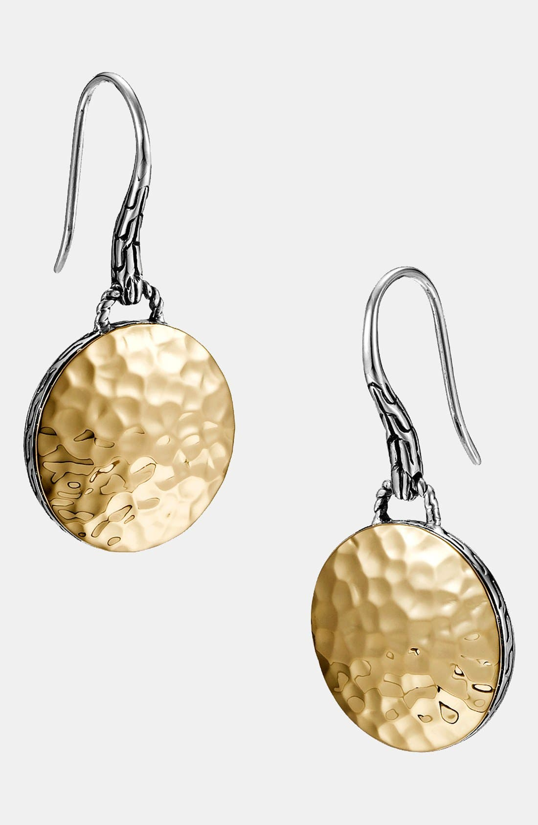 'Palu' Round Drop Earrings,                         Main,                         color, Gold/ Silver