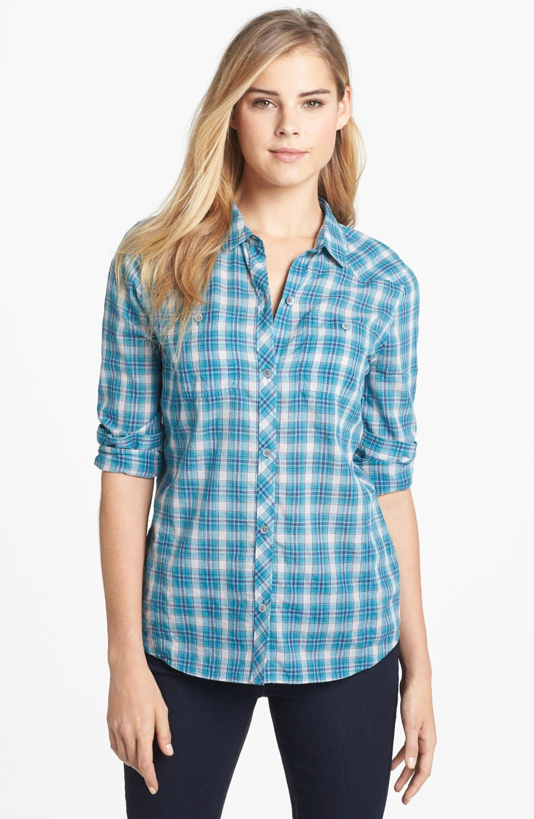 Alternate Image 1 Selected - Caslon® Two Pocket Shirt (Regular & Petite)