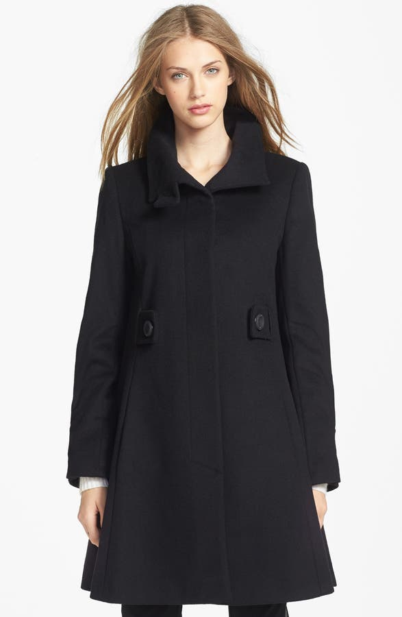George Simonton Couture Lambswool & Cashmere Swing Coat | Nordstrom