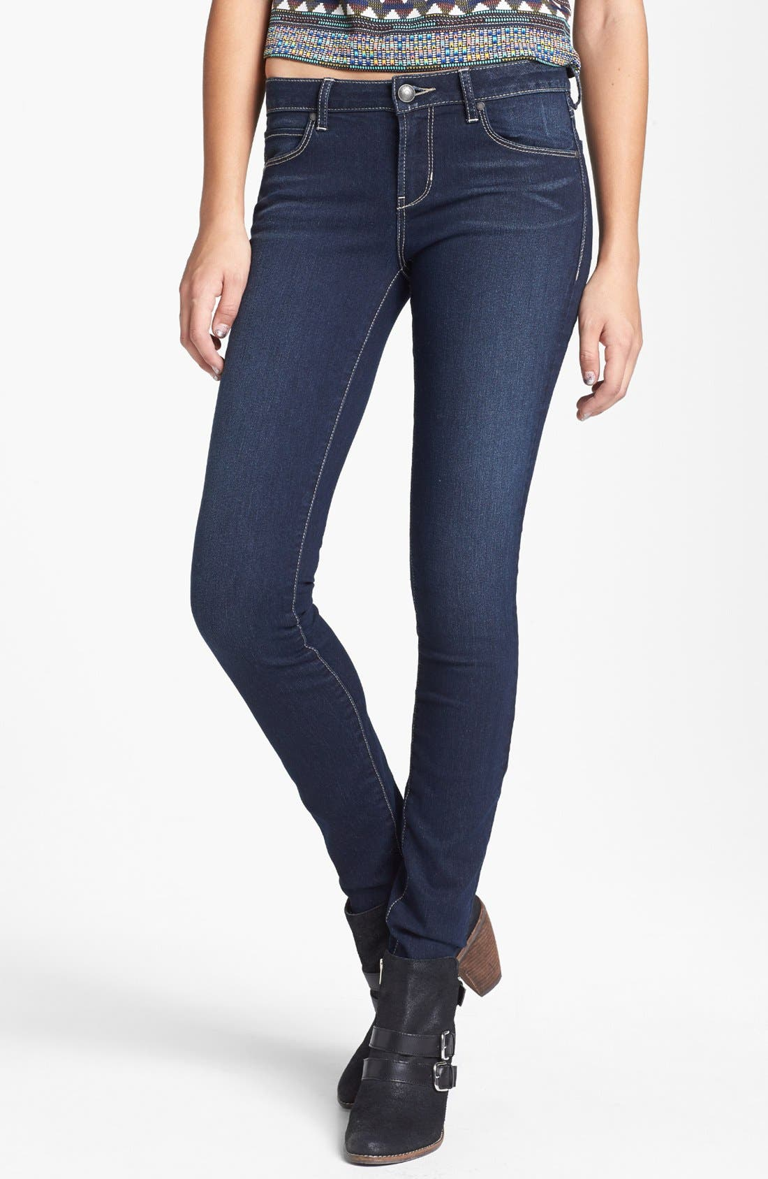 Alternate Image 1 Selected - Articles of Society 'Mya Abyss' Skinny Jeans (Dark) (Juniors)