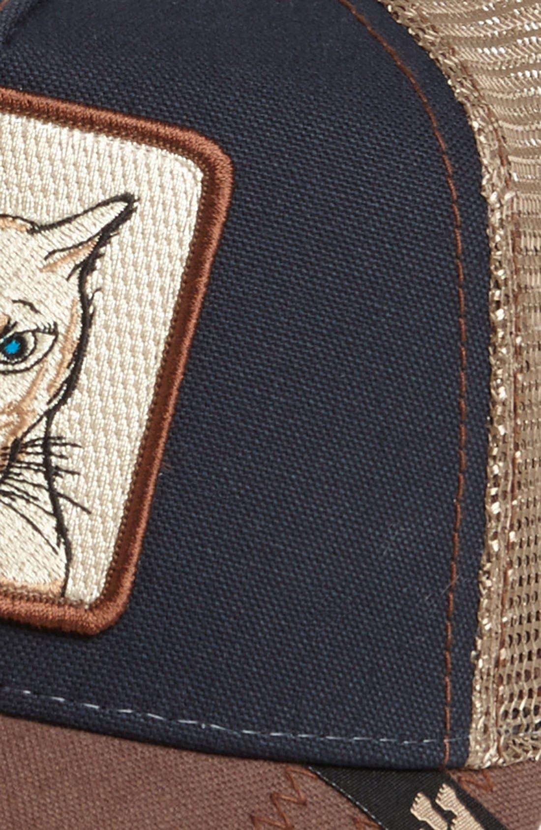 'Animal Farm - Cougar' Trucker Hat,                             Alternate thumbnail 2, color,                             Navy