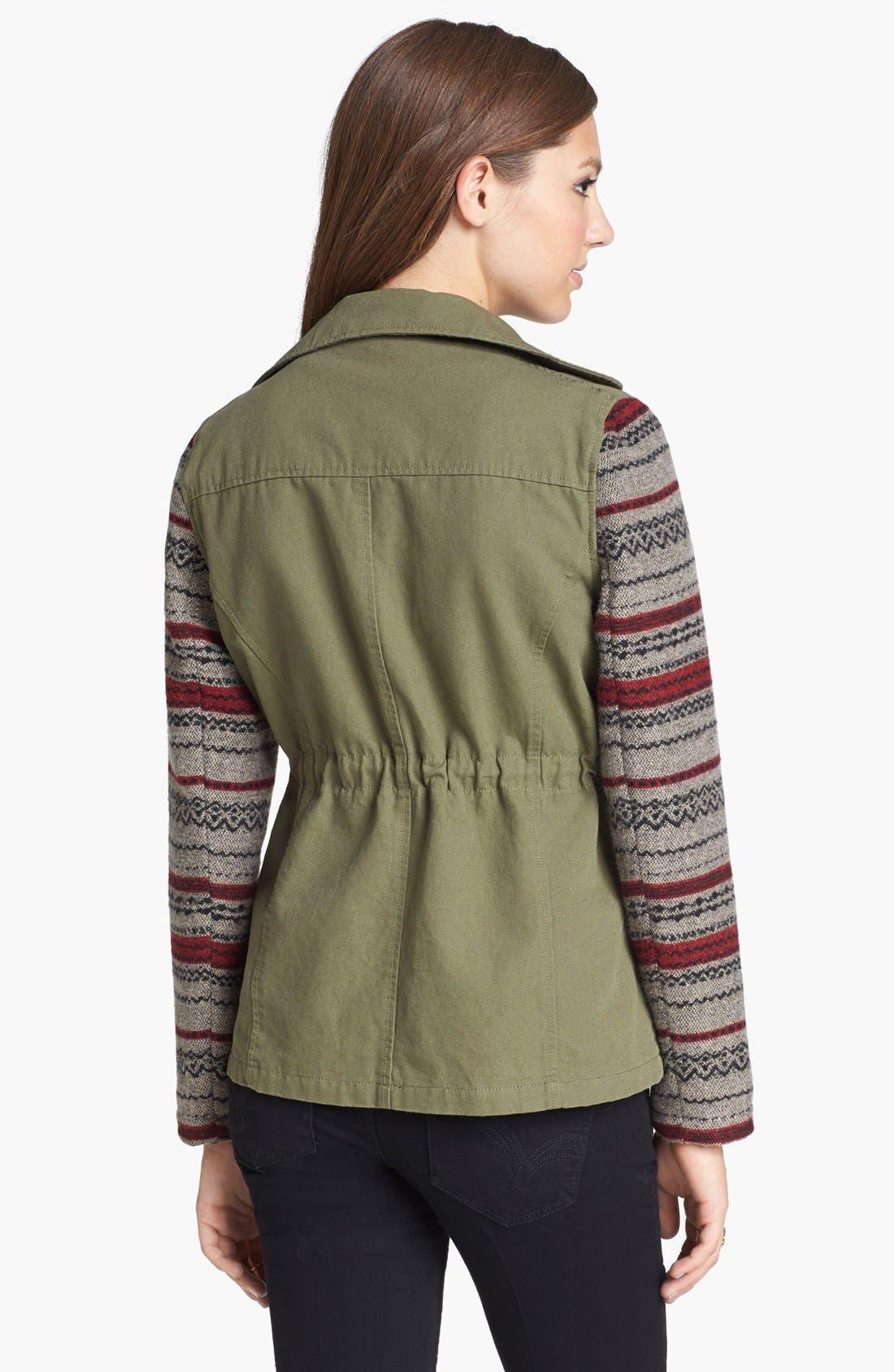 Alternate Image 2  - Jack Knit Sleeve Jacket (Juniors)