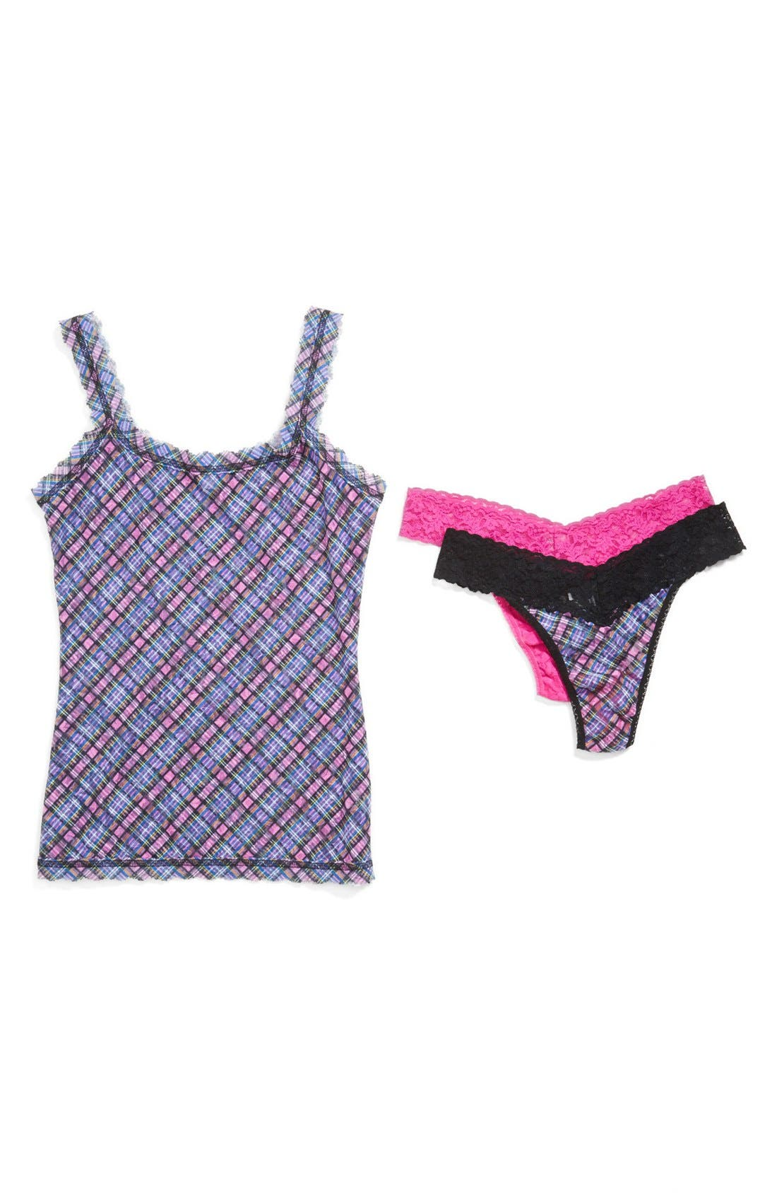 Alternate Image 1 Selected - Hanky Panky Camisole & Original Rise Thong Set (Nordstrom Exclusive) ($102 Value)