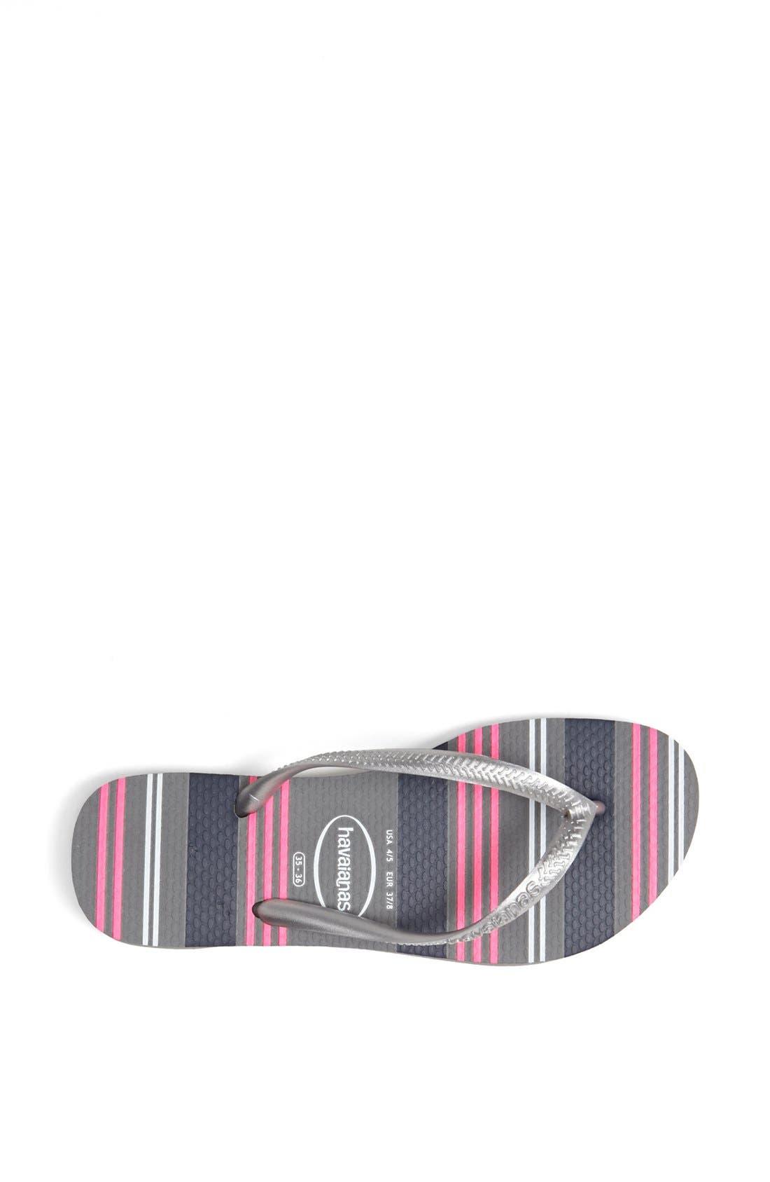 Alternate Image 3  - Havaianas 'Slim - Neon Stripes' Sandal