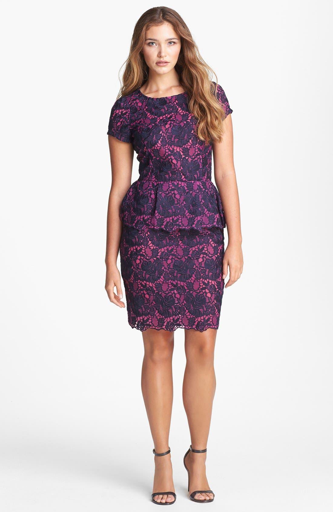 Alternate Image 1 Selected - Felicity & Coco Lace Peplum Sheath Dress (Regular & Petite) (Nordstrom Exclusive)