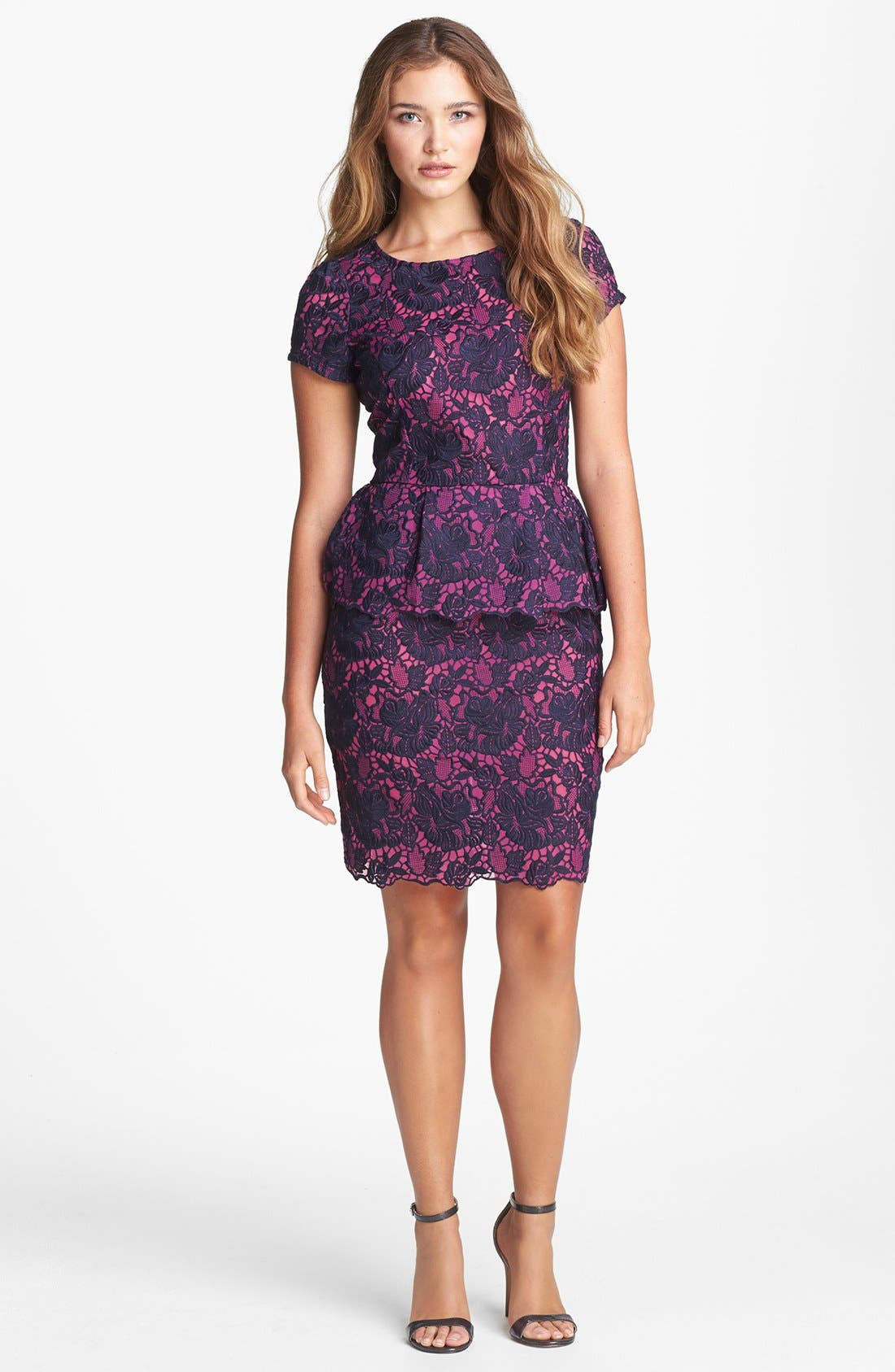 Main Image - Felicity & Coco Lace Peplum Sheath Dress (Regular & Petite) (Nordstrom Exclusive)