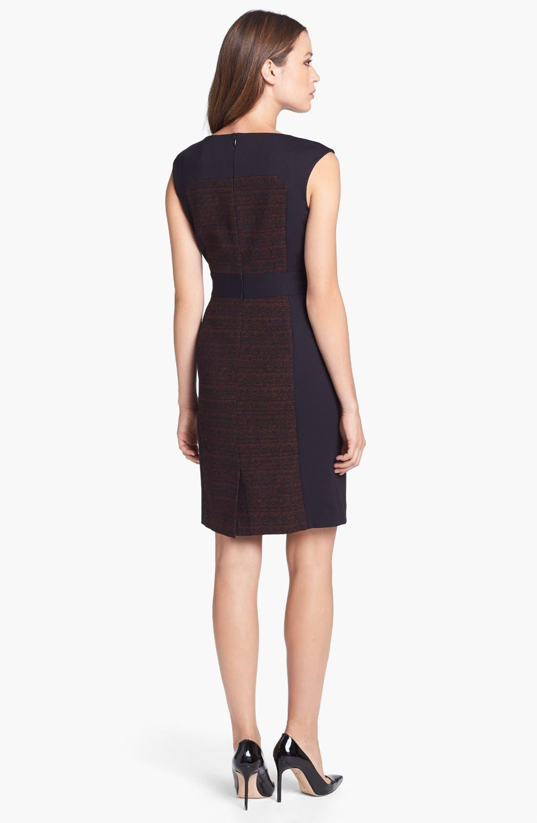 Alternate Image 2  - Classiques Entier® 'Georgina Weave' Mixed Media Sheath Dress