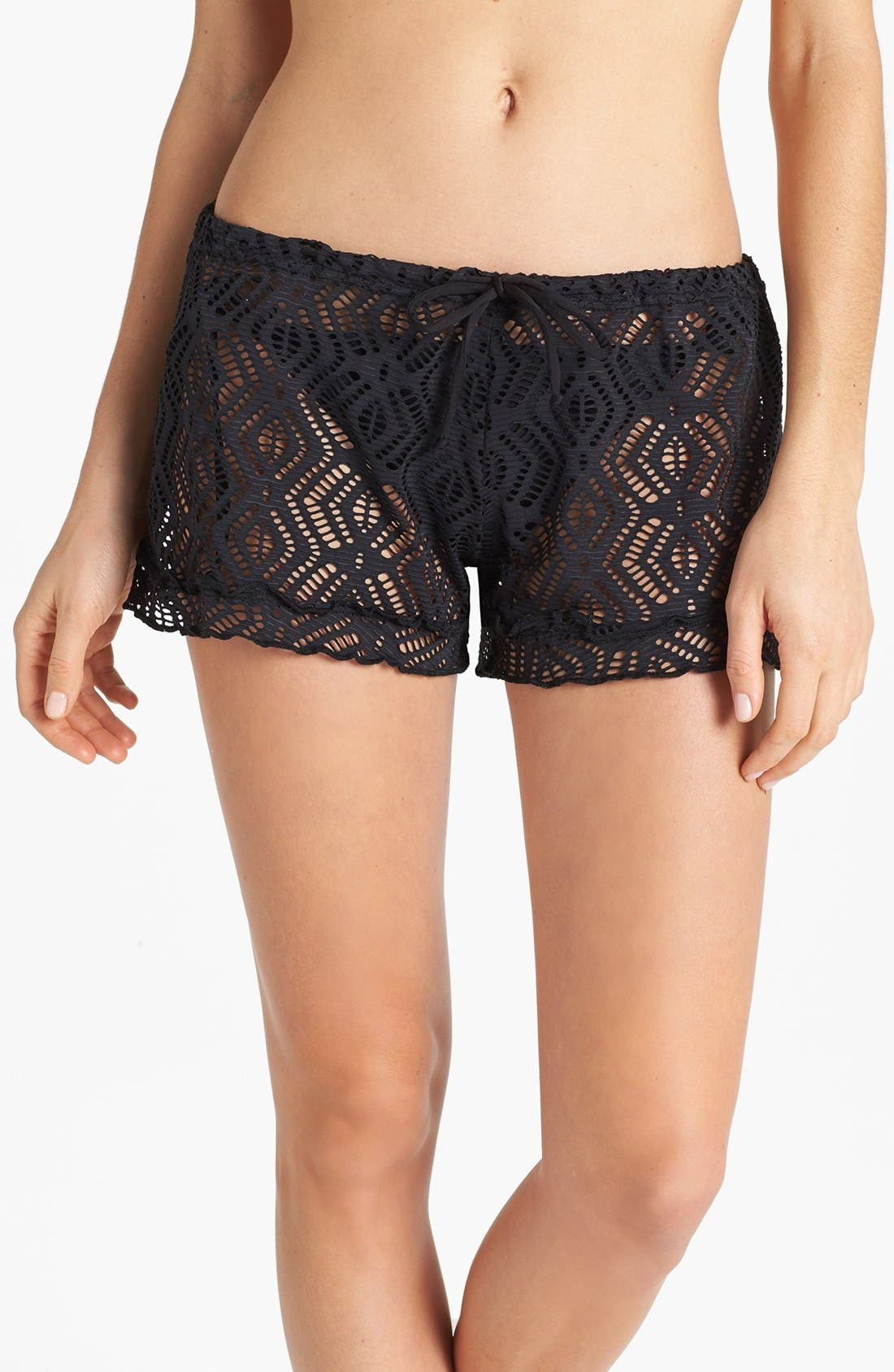 Main Image - Becca Crochet Shorts