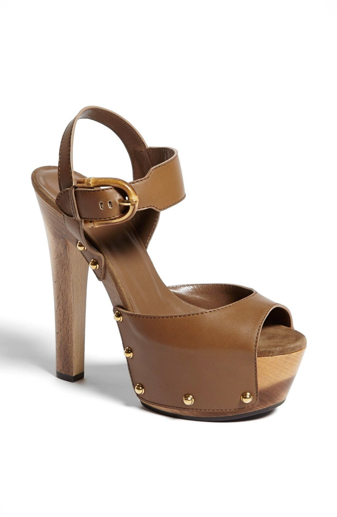 Alternate Image 1 Selected - Gucci 'Nadege' Clog Sandal
