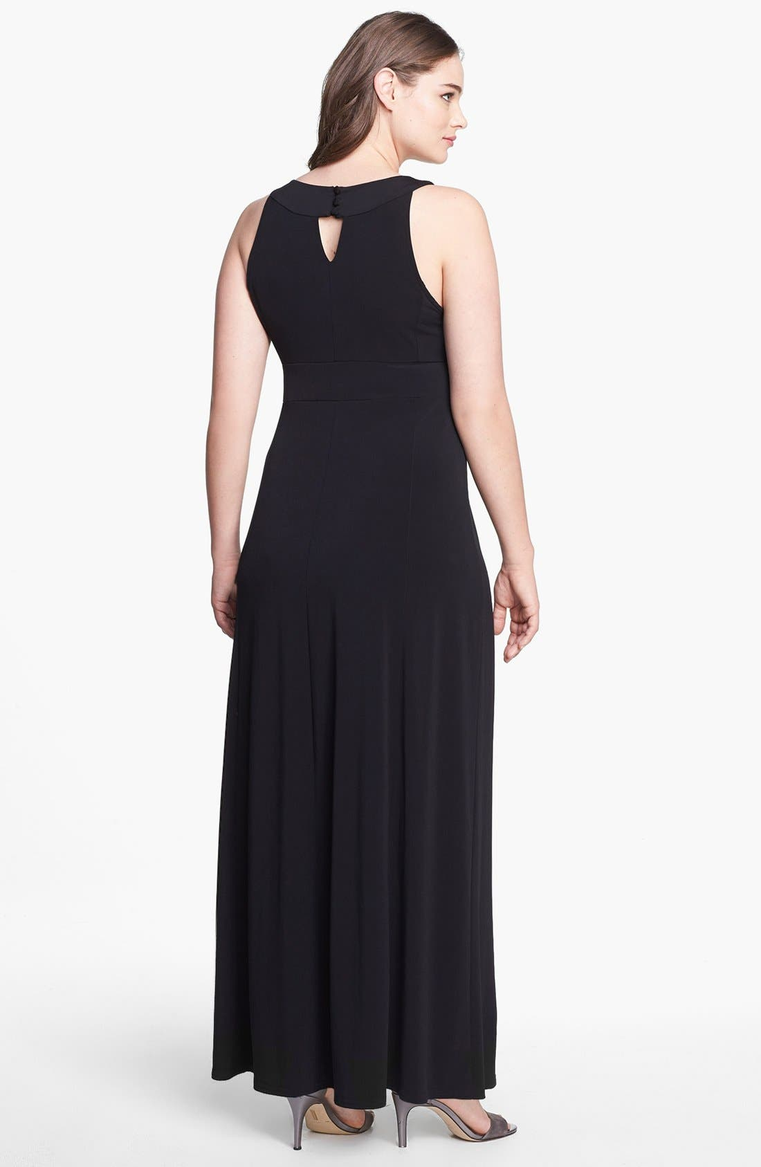 Alternate Image 2  - Evans Embellished Jersey Maxi Dress (Plus Size)