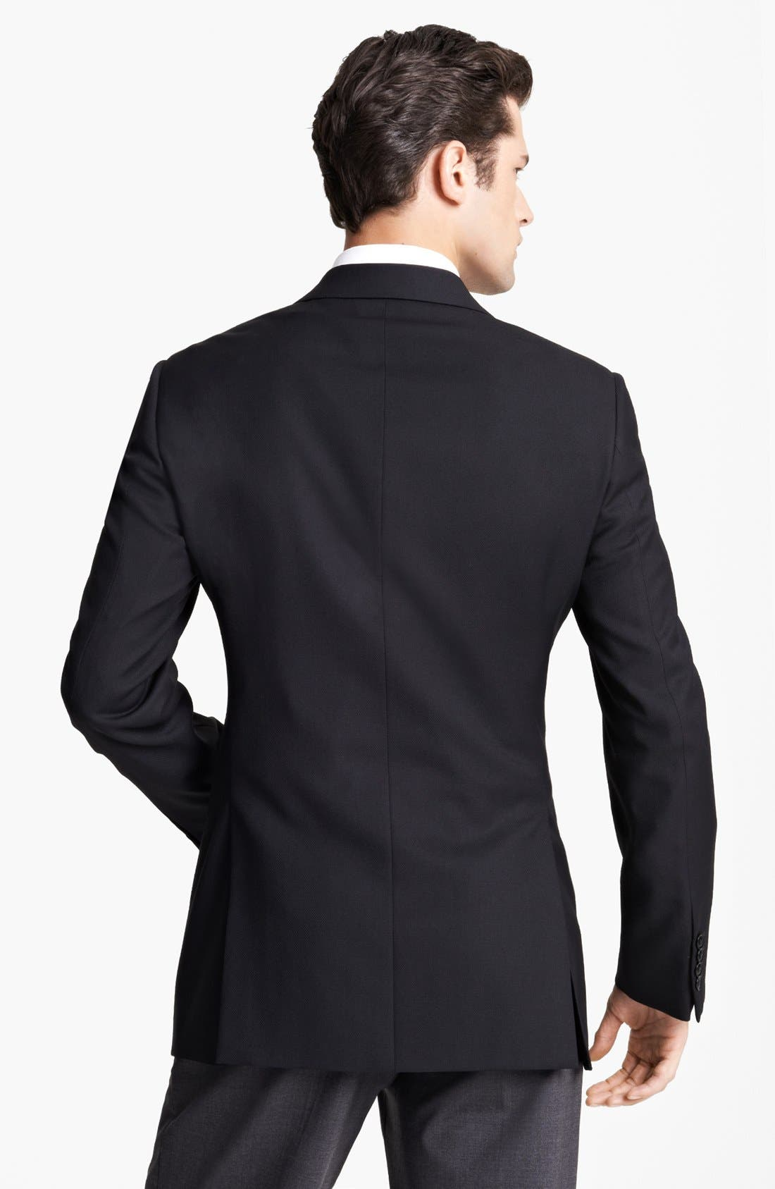 Alternate Image 2  - Armani Collezioni Trim Fit Wool Sportcoat