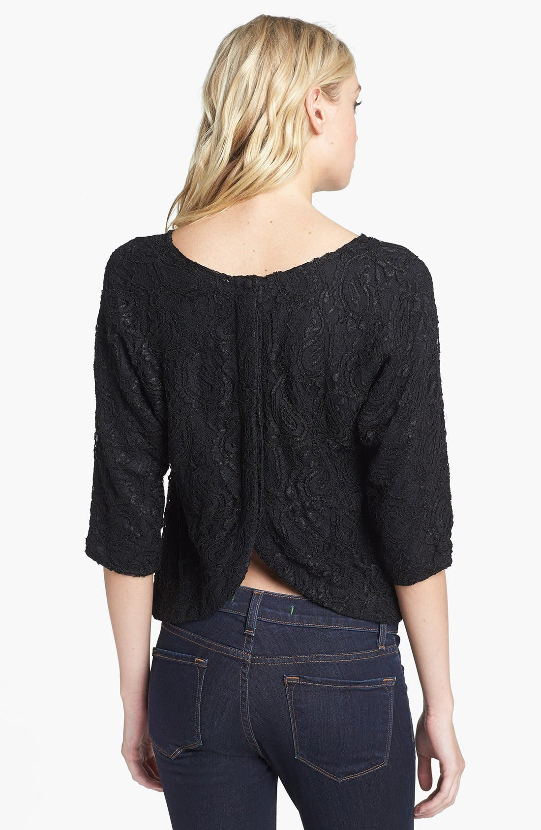 Alternate Image 2  - Lovers + Friends 'Intuition' Lace Envelope Back Blouse