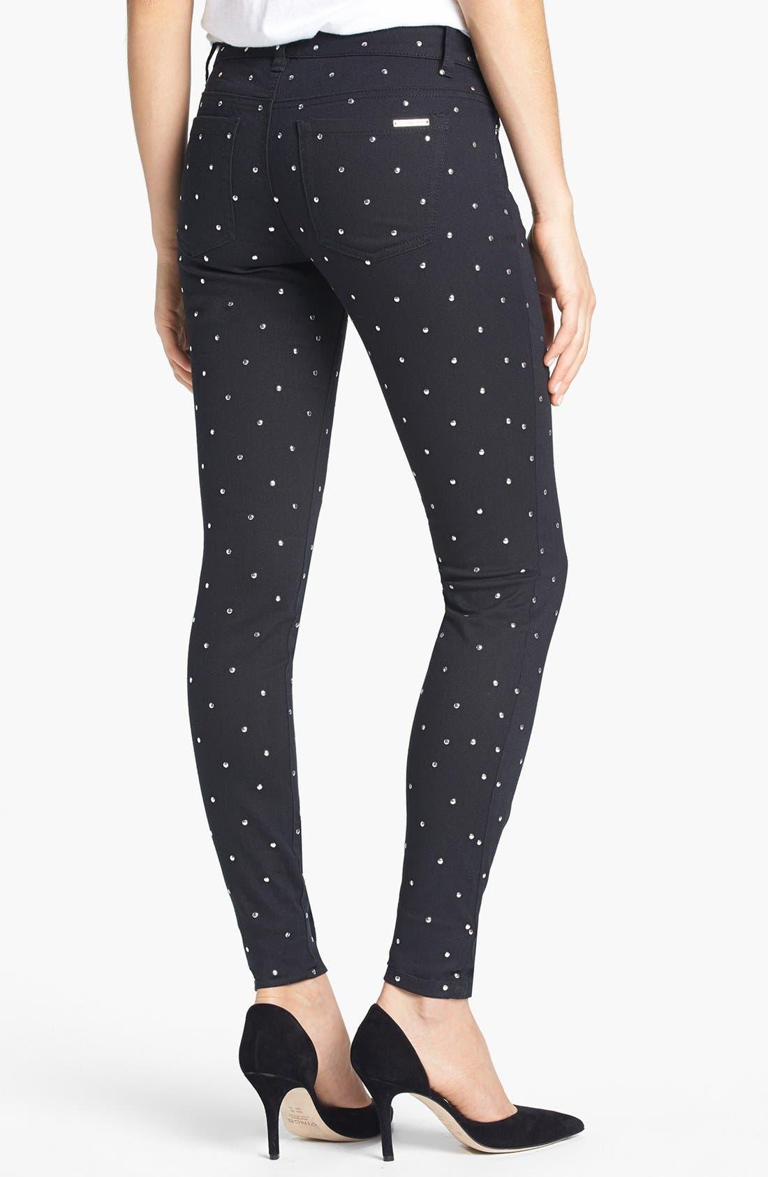 Alternate Image 2  - MICHAEL Michael Kors Studded Skinny Jeans