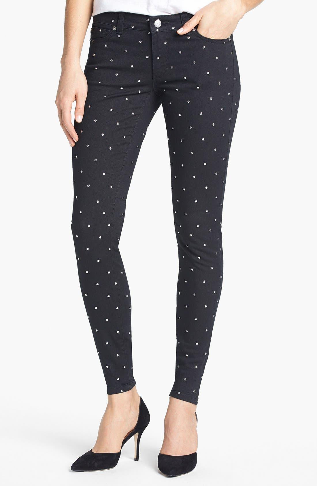 Alternate Image 1 Selected - MICHAEL Michael Kors Studded Skinny Jeans