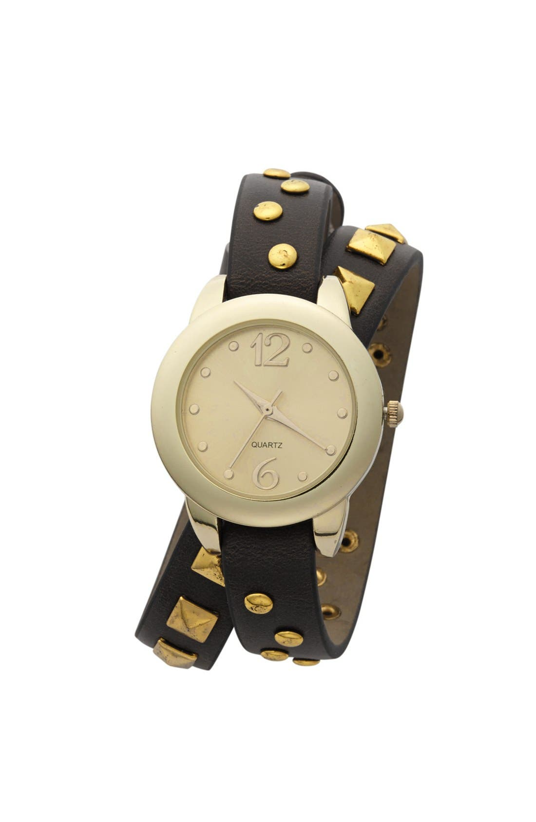 Alternate Image 1 Selected - Titanium Studded Wrap Watch, 30mm (Juniors) (Online Only)