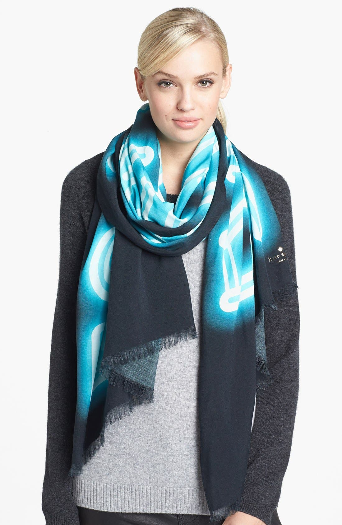 Alternate Image 1 Selected - kate spade new york 'tinsel town - escape the ordinary' scarf