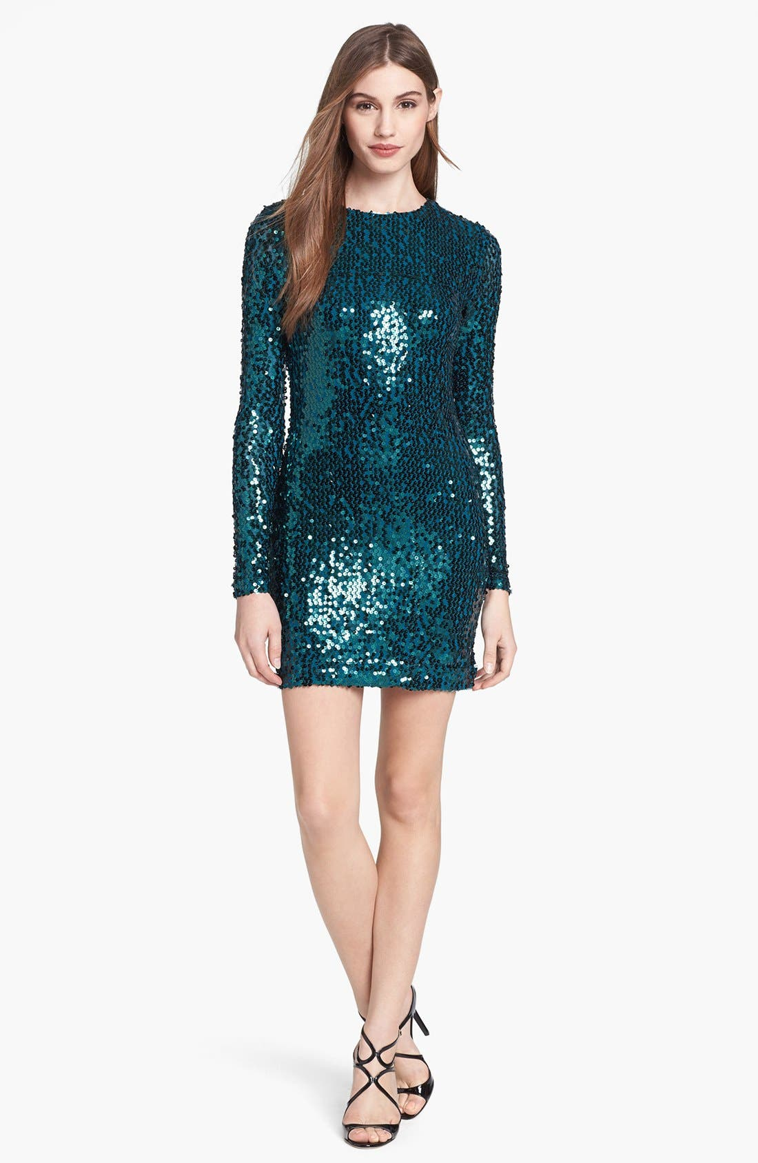 Main Image - French Connection Sequin Sheath Minidress